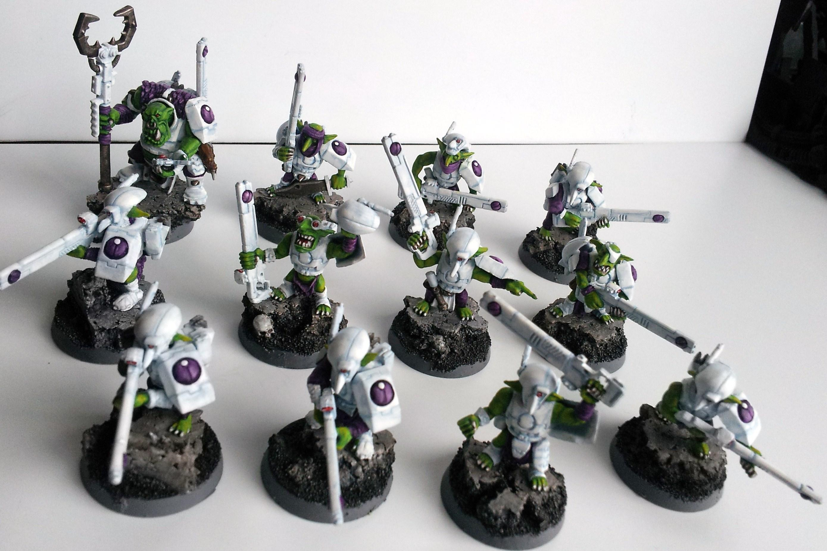 Allies, Broadsides, Conversion, Convert, Crisis Battlesuit, Fire Warriors, Grots, Orks, Suit, Tau