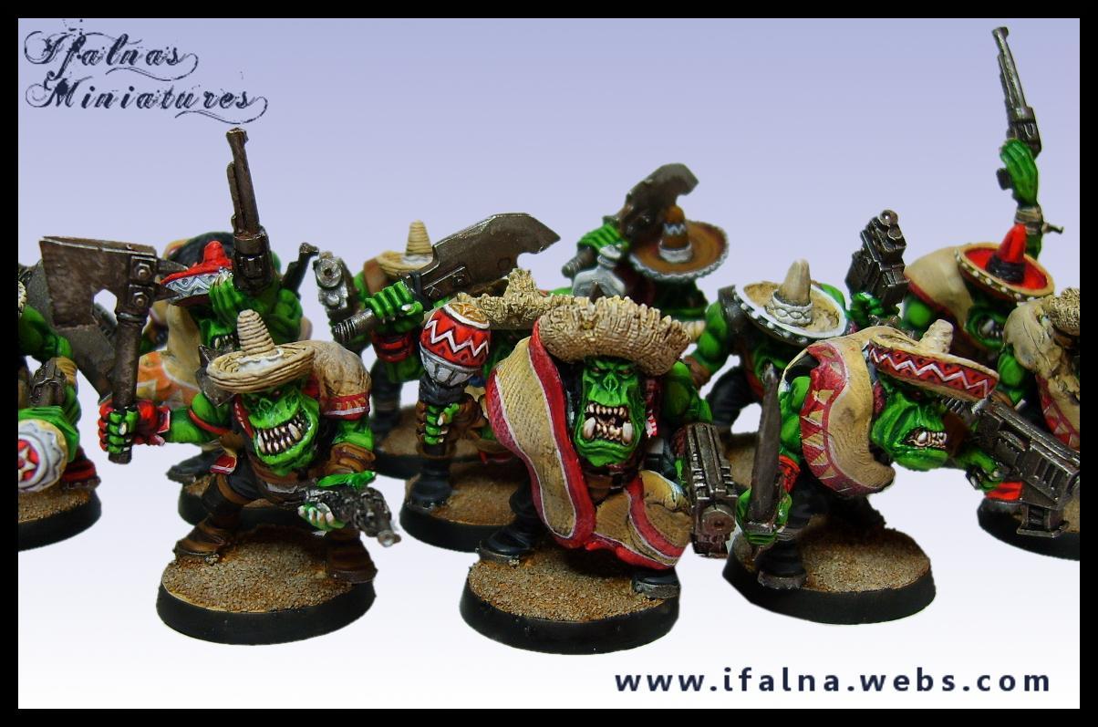 Bandit, Commission, Converstion, Custom, Games Workshop, Mexican, Orks, Poncho, Sand, Sombrero, Warhammer 40,000, Warhammer Fantasy