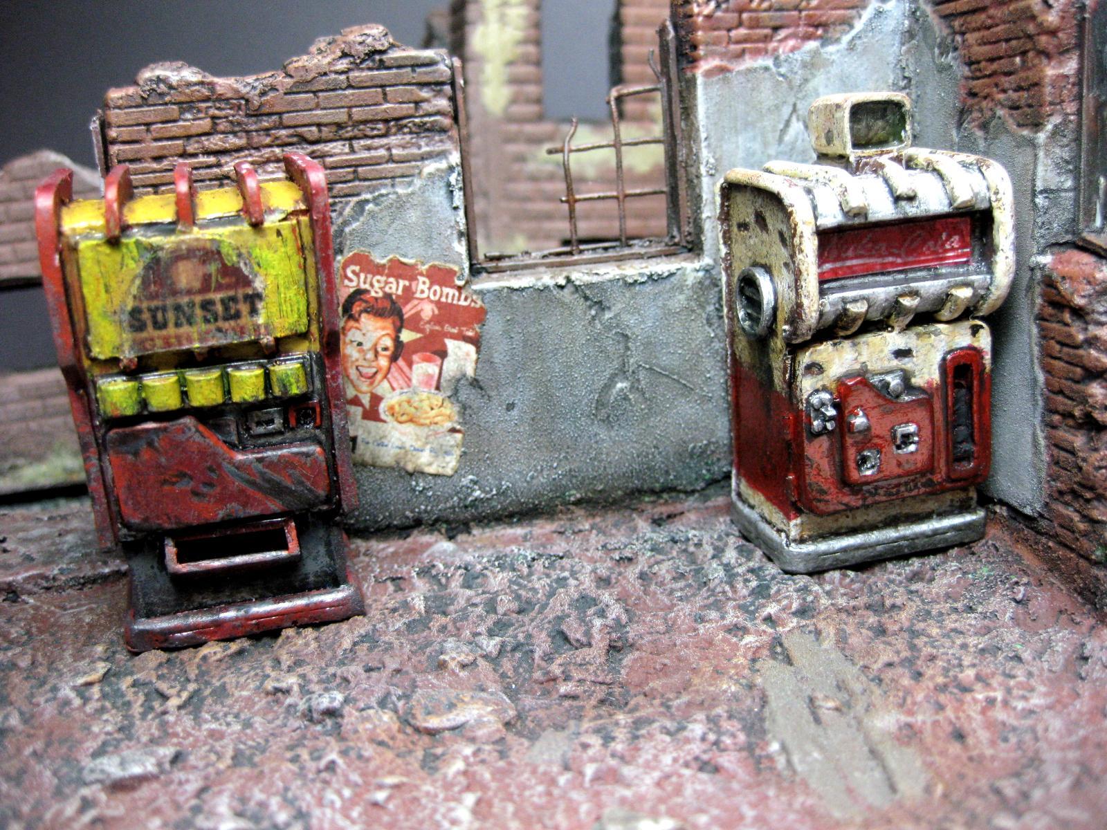 Fallout, Nuka Cola, Sunset Sarsparilla, Terrain, Vault, Vending Machine, Veninding Machine