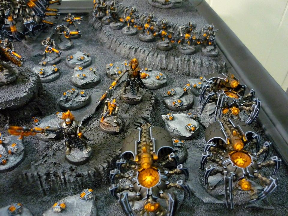 Immortal, Immortals, Lord, Necron Lord, Necrons, Scarabs, Spider, Spiders, Warriors, Warscyth