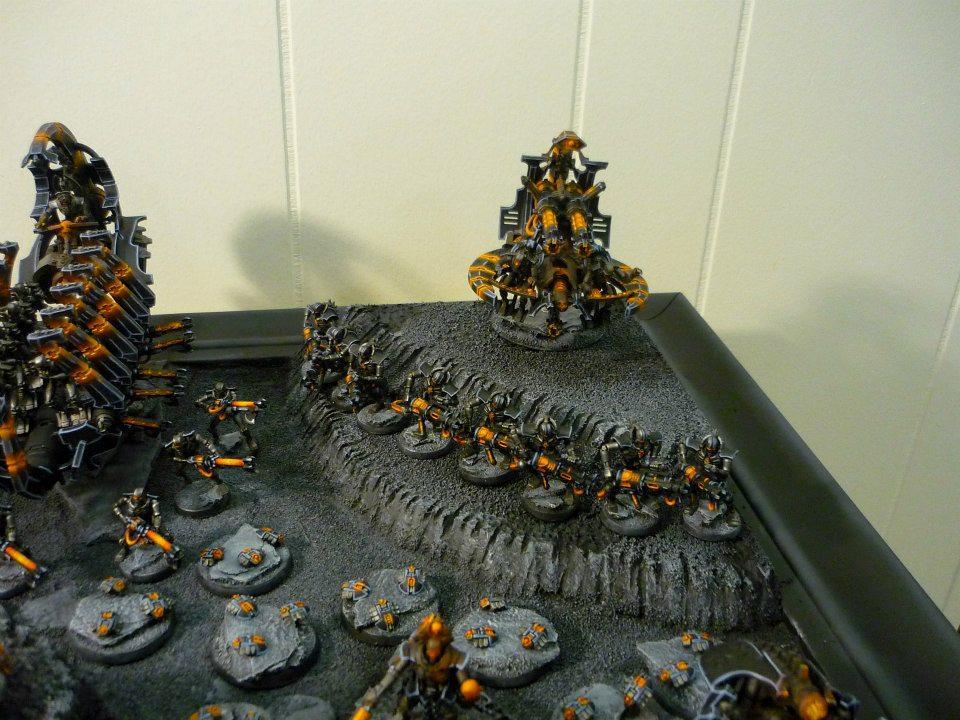 Immortals, Necrons, Orange, Warriors