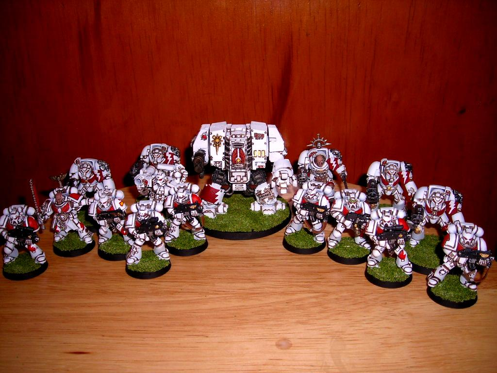 Dreadnought, Space Marines, Tactical Squad, Warhammer 40,000, White Scars