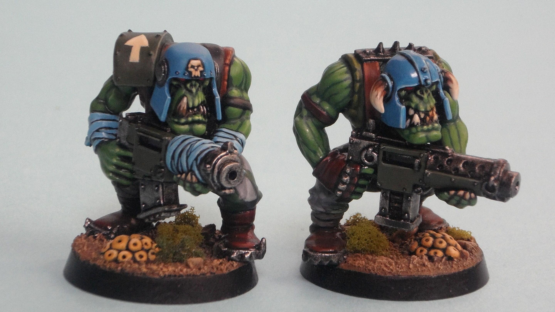 Boy, Orks, Blood Axe Ork Boyz on Patrol