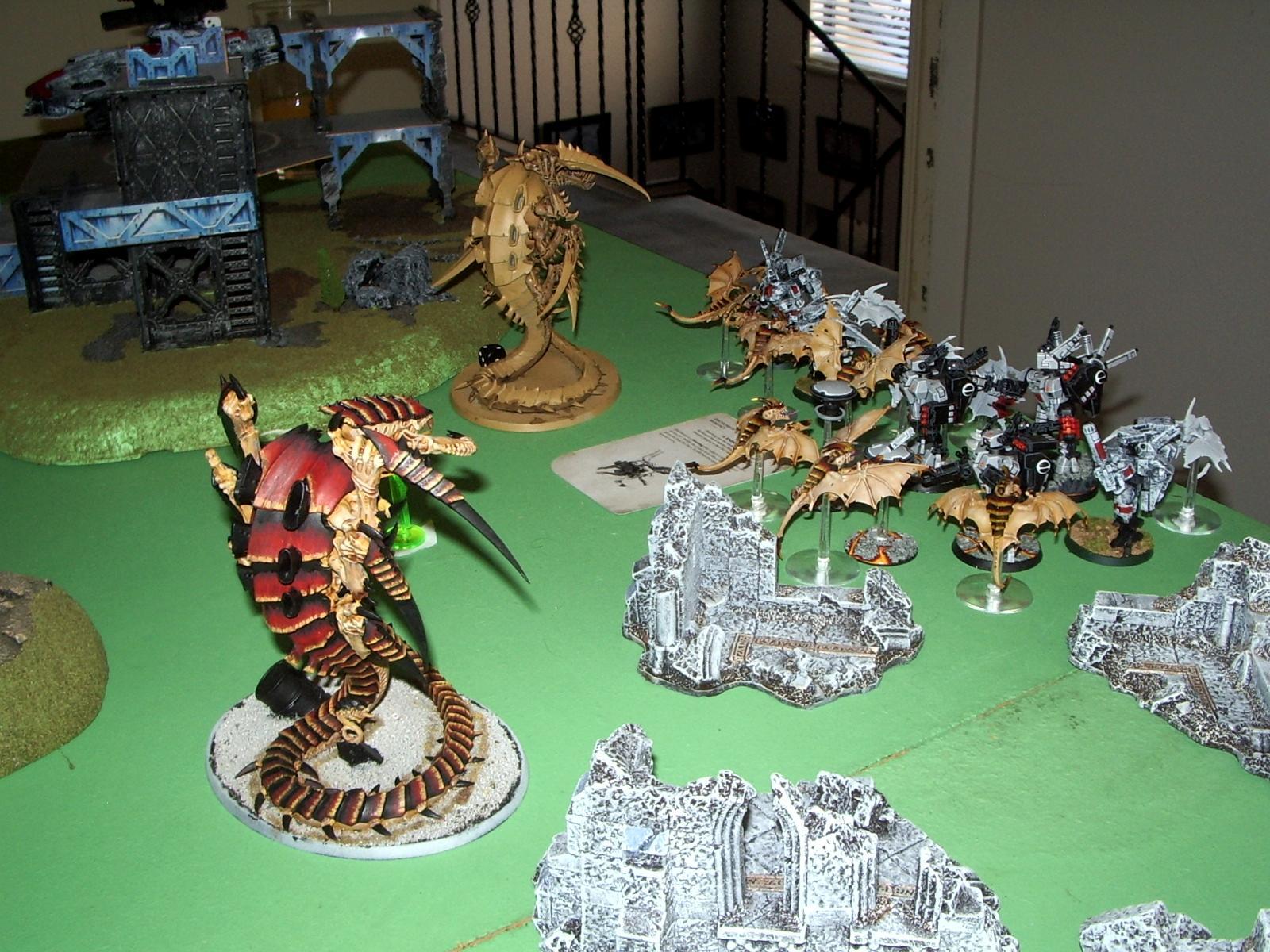 Battlesuit, Diorama, Morloc, Tyranids Vs Tau