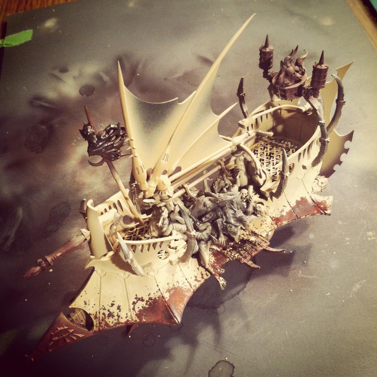 Conversion, Dark Eldar, Raider, Work In Progress