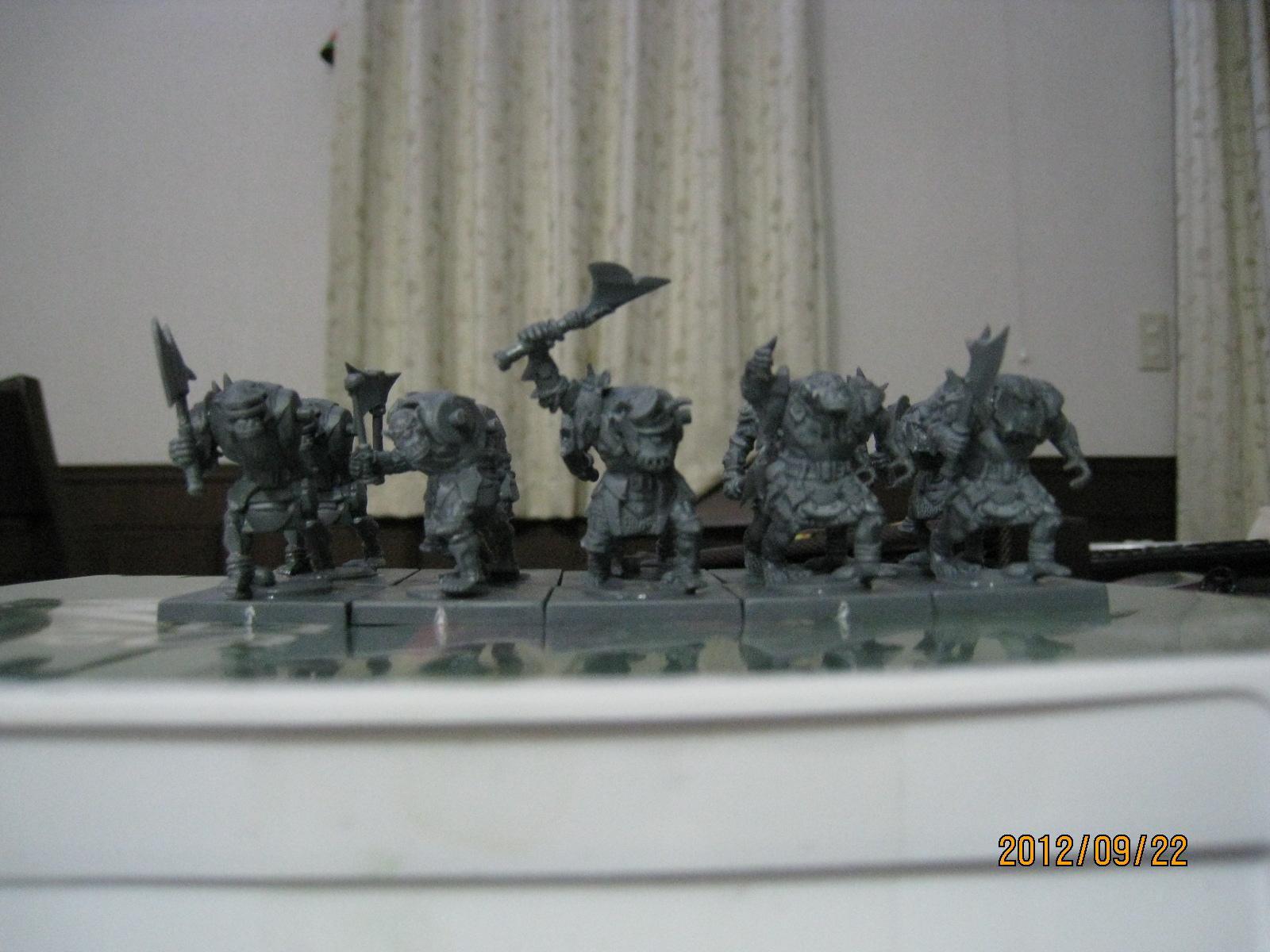 Axe, Mantic, Orcs, orc troop 1