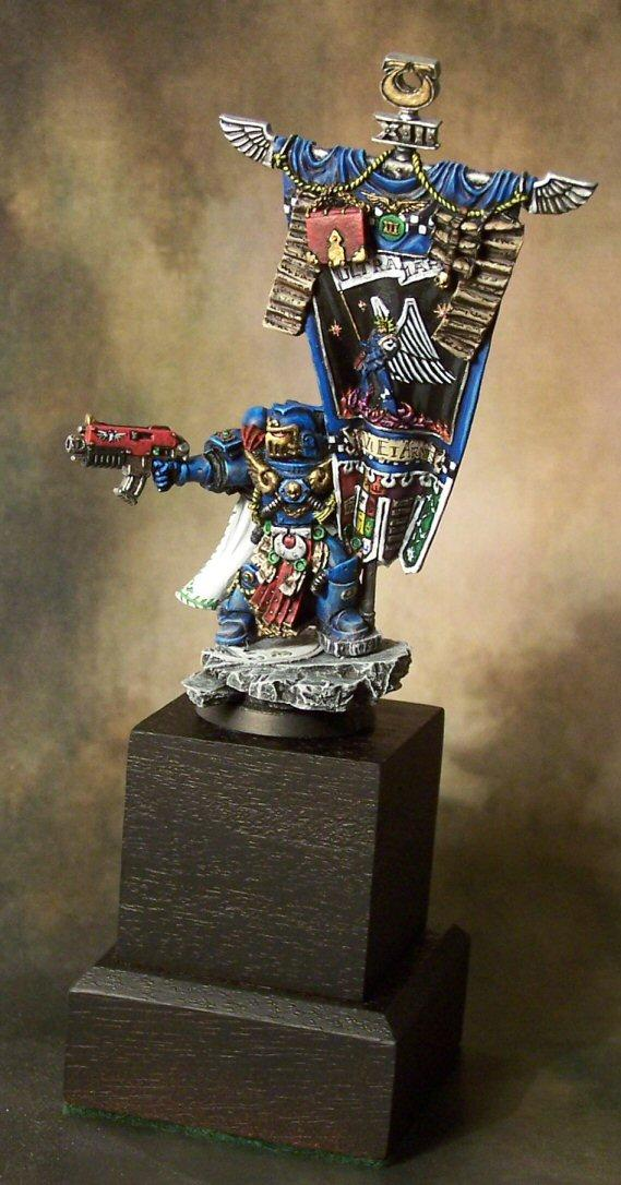 Banner, Flag, Space Marines, Standard, Standard Bearer, Ultramarines