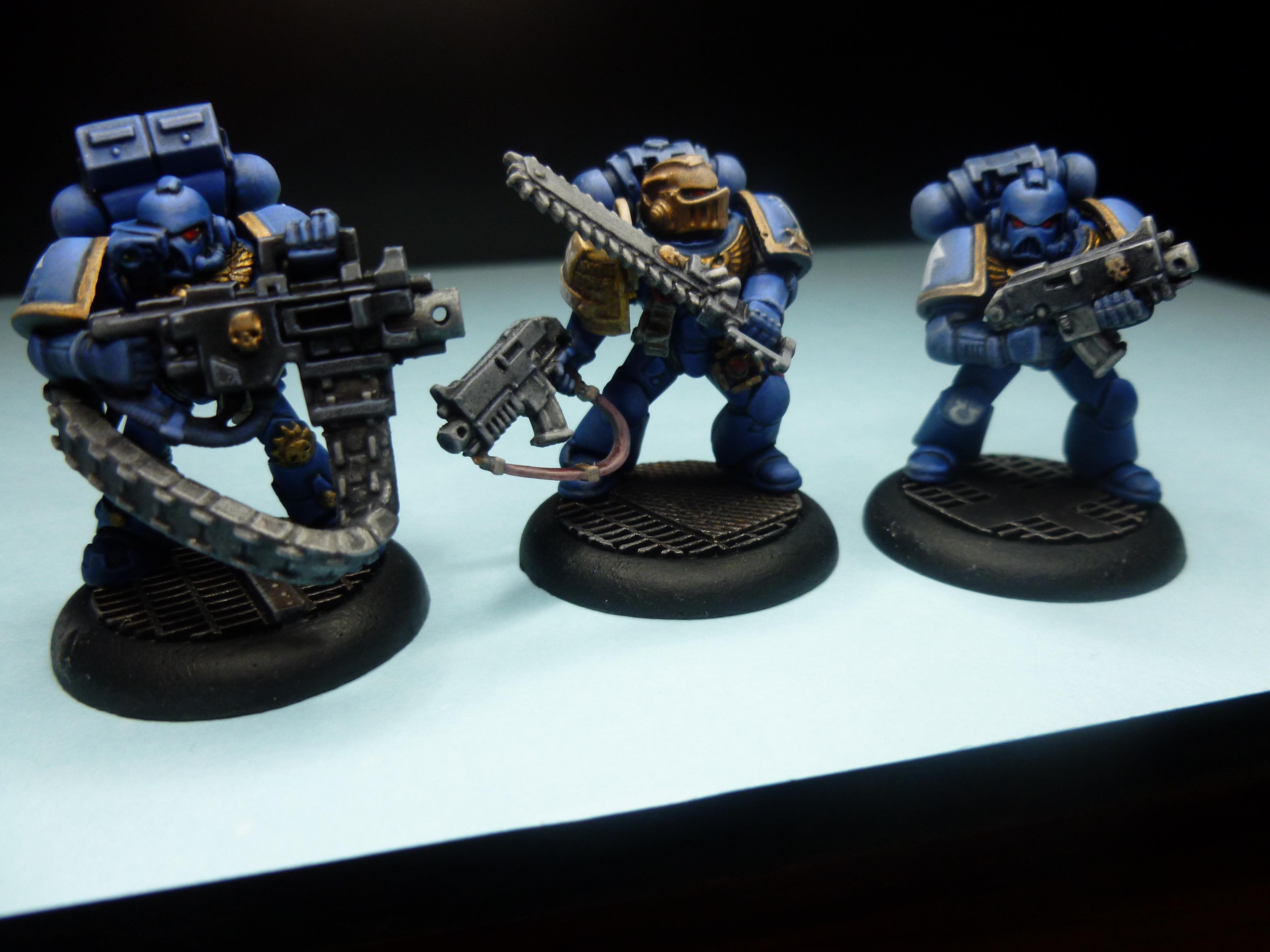 Blending, Kill Team, Space Hulk, Space Marines, Tactical Squad, Ultramarines, Wet