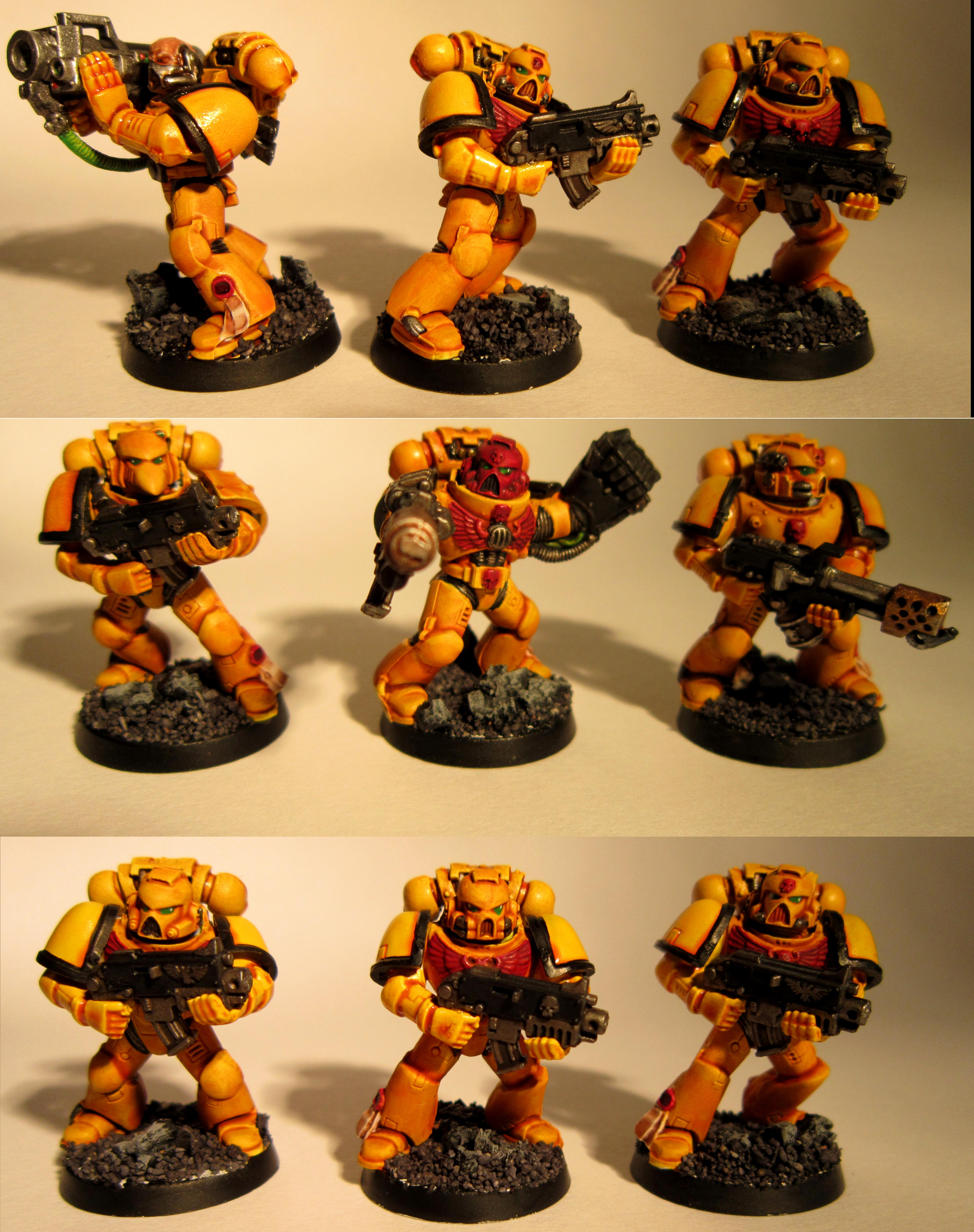 Imperial Fists, Space Marines, Tactical Squad, Warhammer 40,000, Yellow