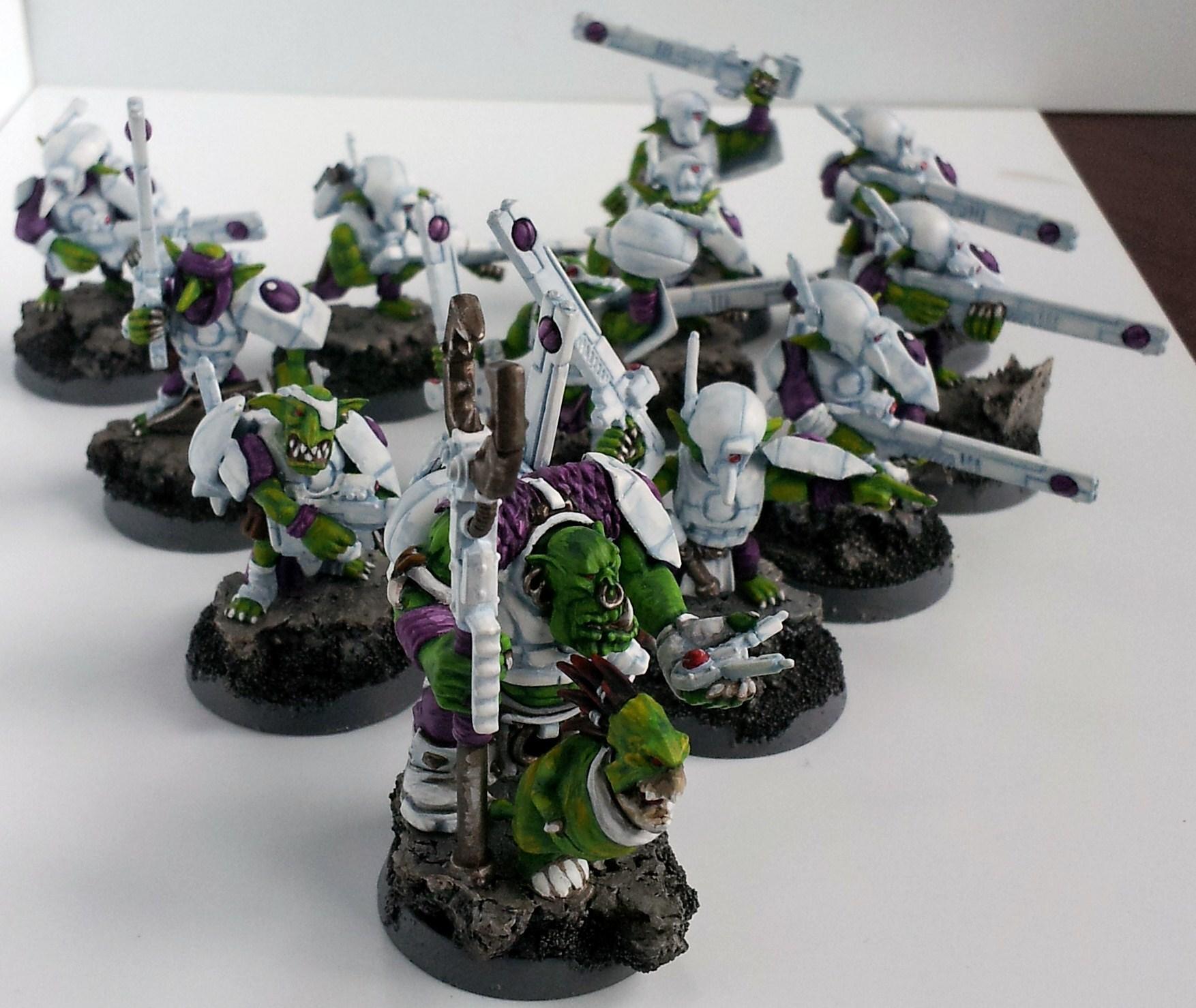 Allies, Broadsides, Conversion, Convert, Crisis Battlesuit, Fire Warriors, Grots, Orks, Suit, Tau