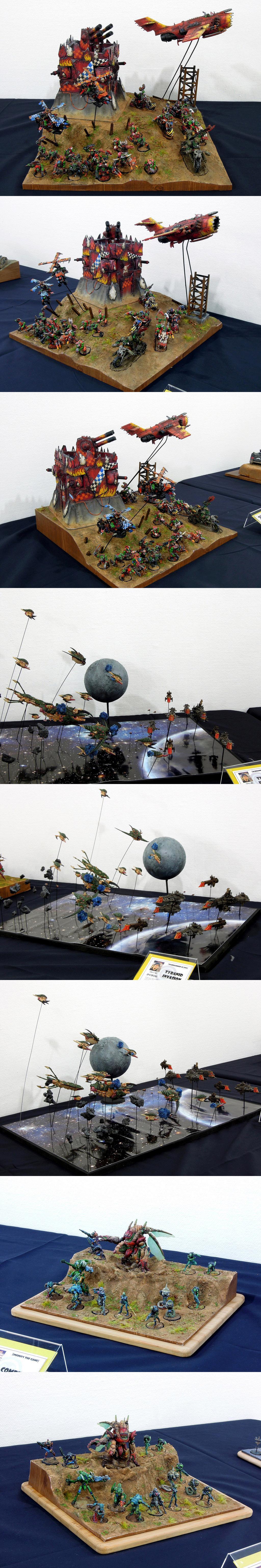 Battlefleet Gothic, Combined Army, Diorama, Display, Exhibition, Infinity, Orks, Warhammer 40,000, Warhammer Fantasy