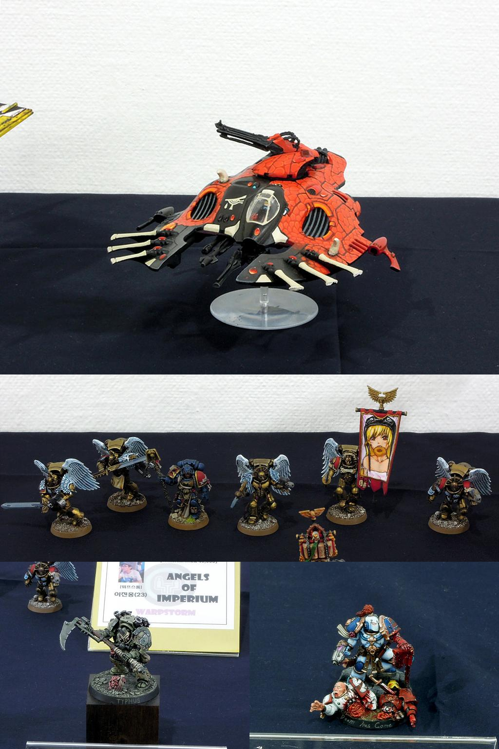 Blood Angels, Chaos Space Marines, Display, Elder, Exhibition, Infinity, Pre-heresy, Warhammer 40,000, Warhammer Fantasy, Wave Serpent