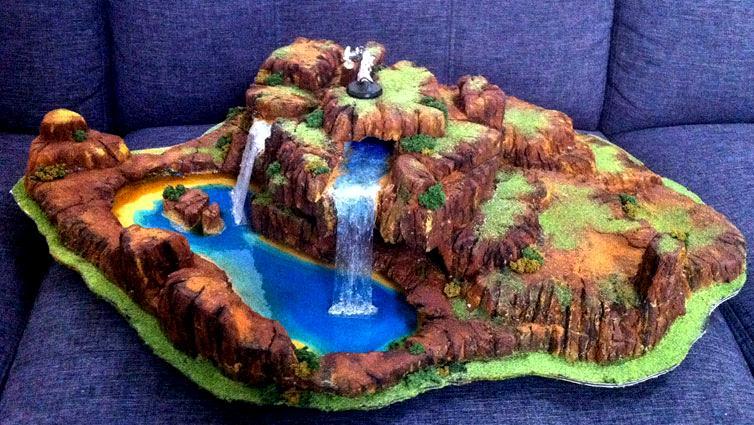 Gaming, Tabletop, Terrain, Waterfall   Waterfall Gaming Terrain   Gallery    DakkaDakka | Weu0027ve Got A Strategy Rating Of 4.