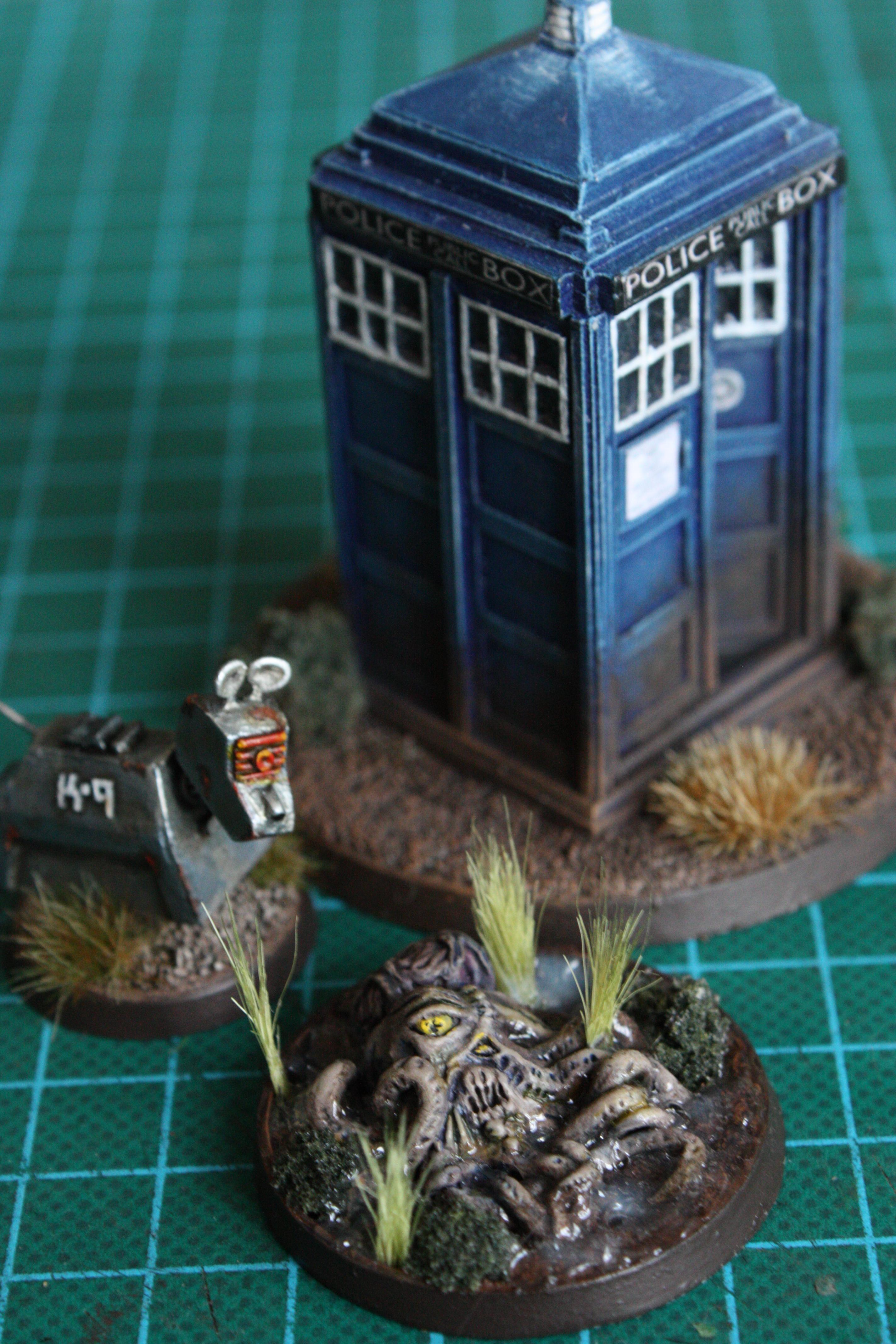 Dalek, Dr Who, K9, Objective Marker, Tardis