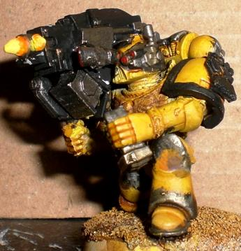 Custom Built, Devastator, Heavy Bolter, Homemade, Imperial, Imperial Fists, Painted, Scratch Build, Space Marines
