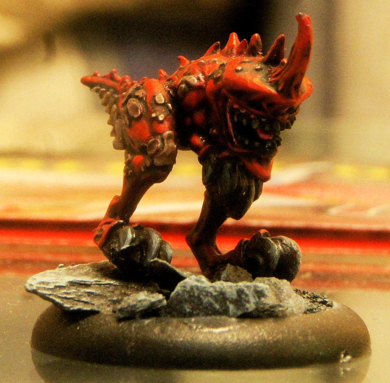 Hordes, Legion Of Everblight, Lesser Warbeast, Red, Shredder, Warmachine