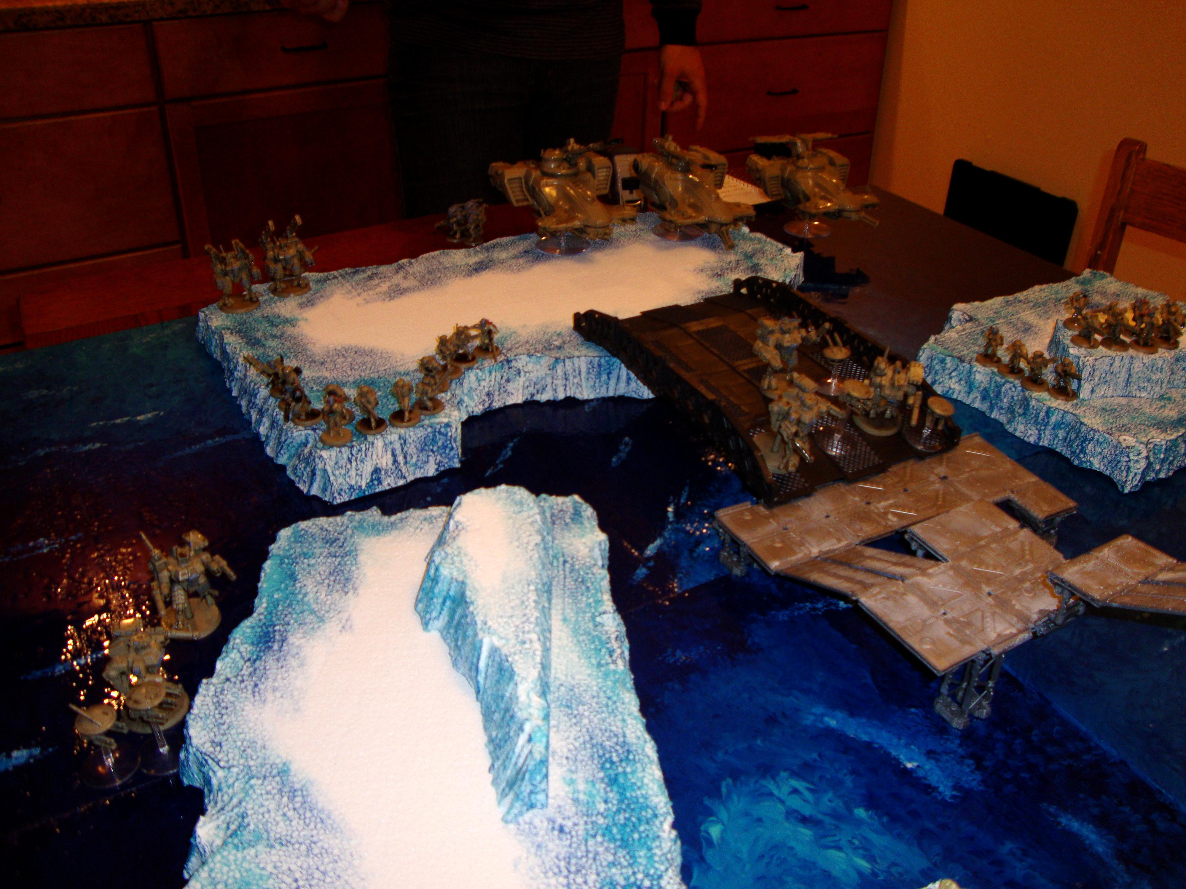 Board, Game, Ice, Necrons, Snow, Tau