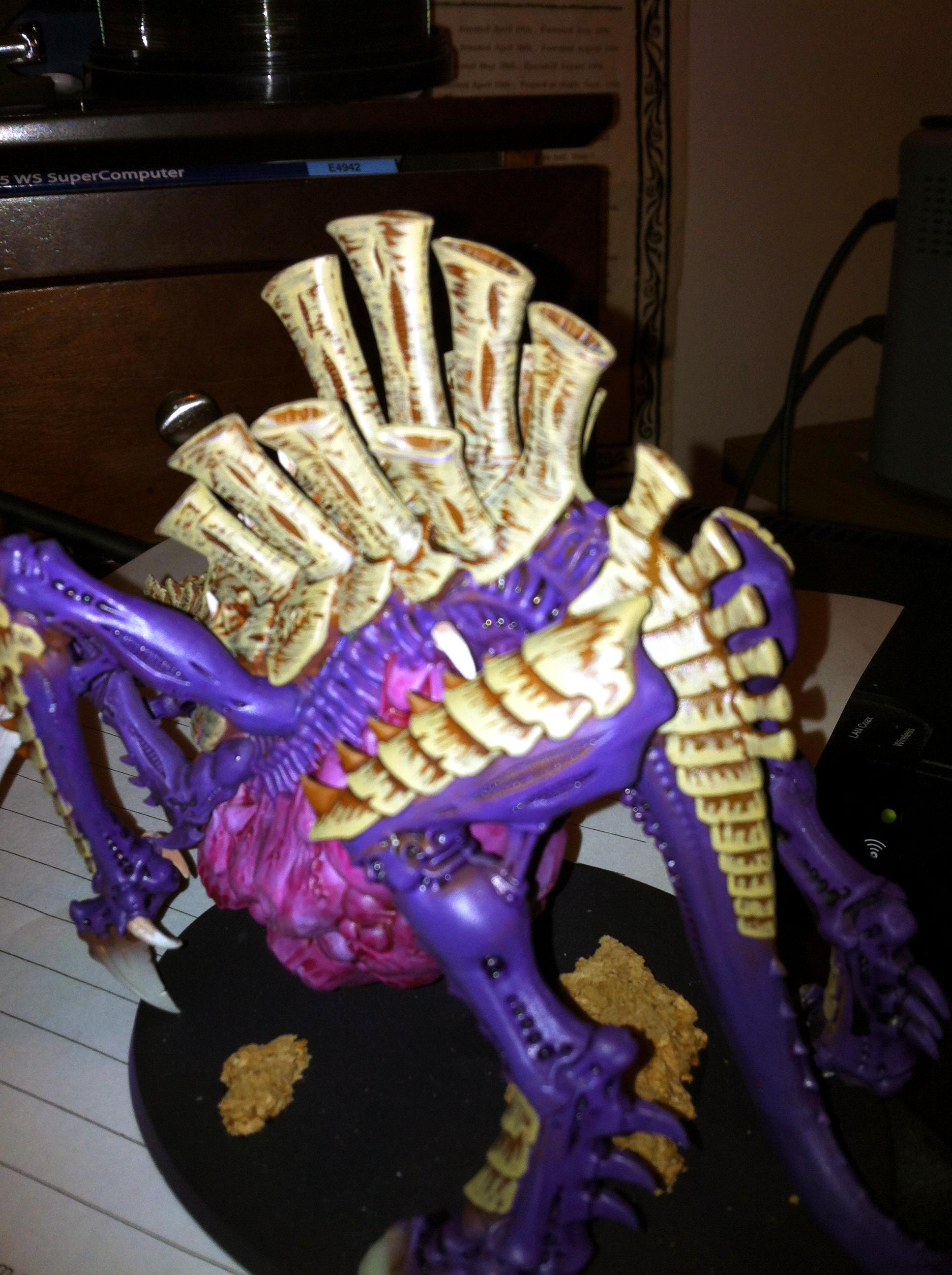 Bone, Freehand, Monstrous Creature, Purple, Tervigon, Work In Progress