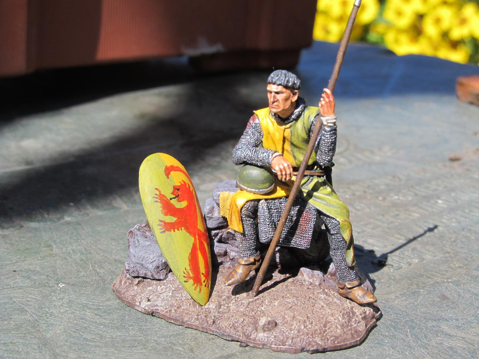 54mm, Norman Knight, 54mm Norman Knight 'Resting'