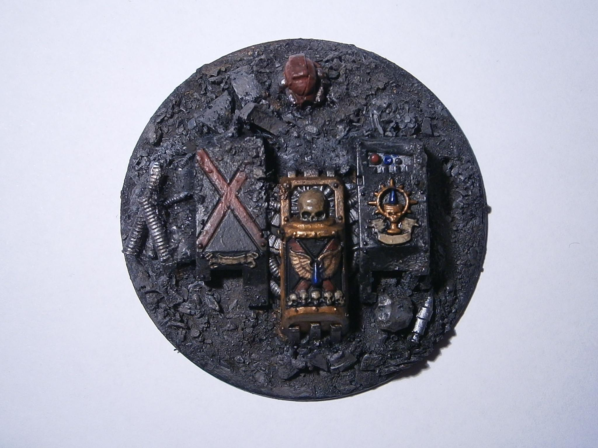 Blood Angels, Death Company, Dreadnought, Objective Marker, Rubble, Space Marines, Warhammer 40,000, Wreck