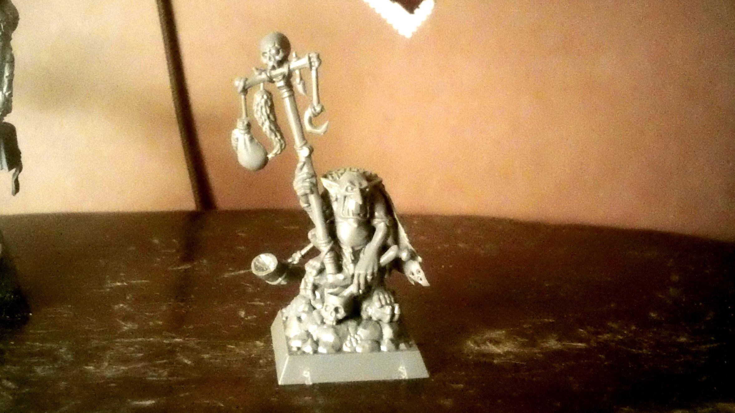 Conversion, Goblin Shaman, Goblins, Shaman, Warhammer Fantasy, Work In Progress