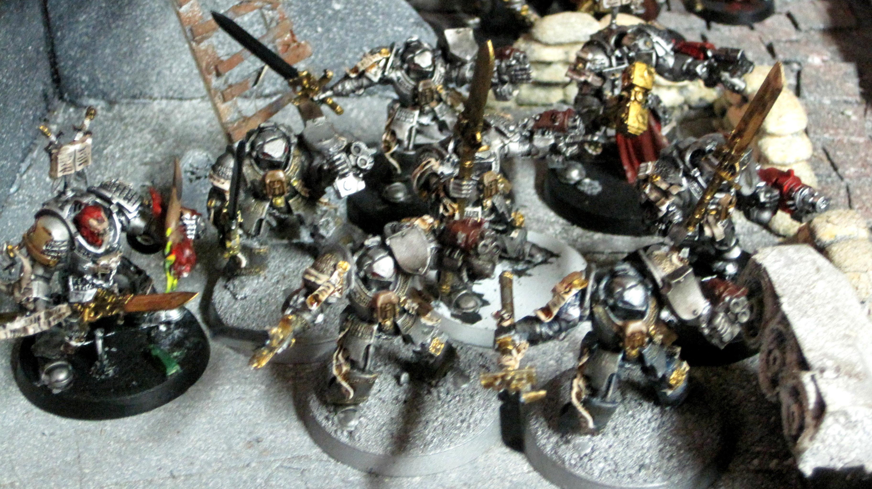 Crowe, Dread Knight, Grey Knights, Karamazov, Payne, Propainted