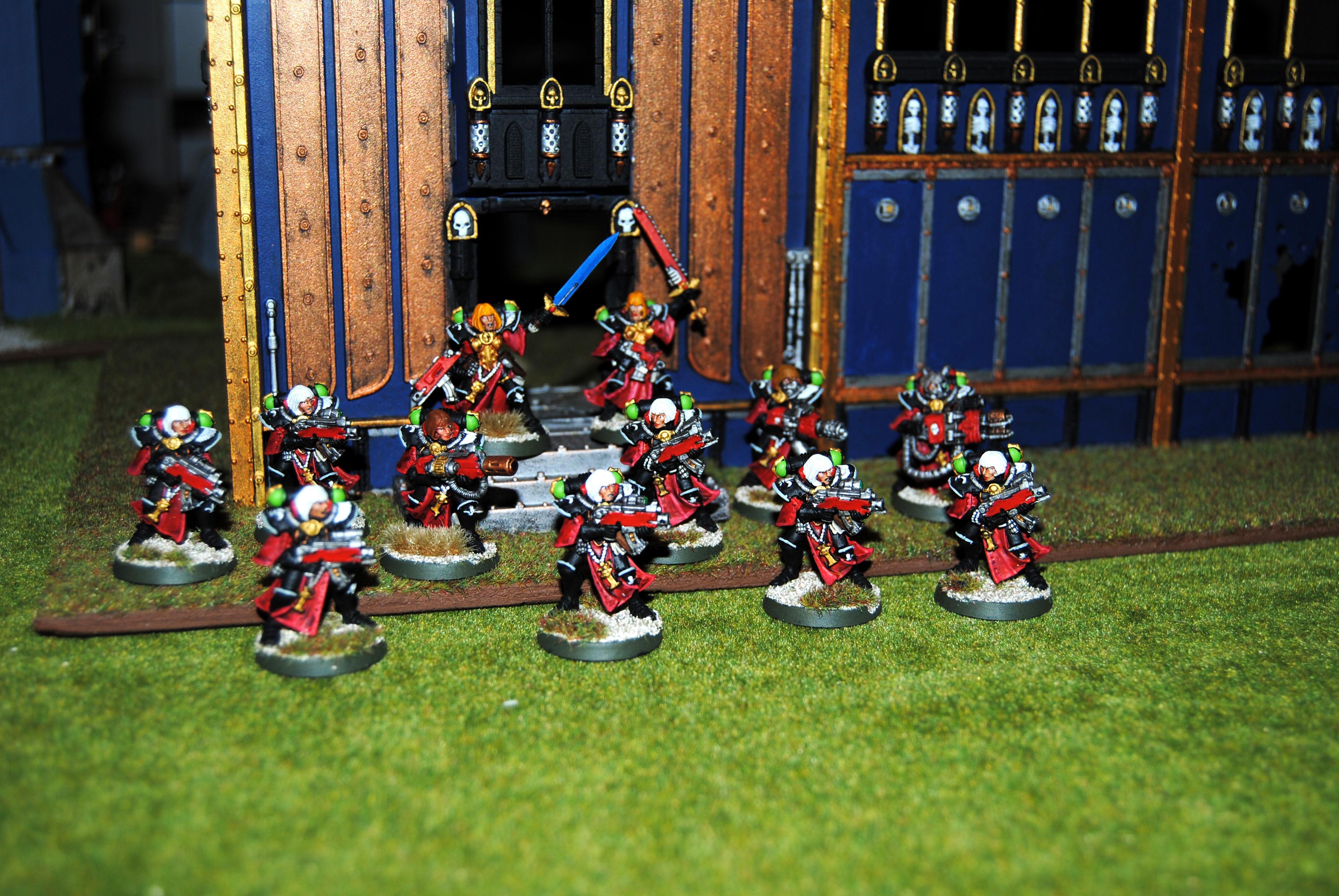 Adepta Sororitas, Battle Sister Squad, Flamer, Heavy Flamer, Meltagun, Sisters Of Battle, Veteran Sister Superior