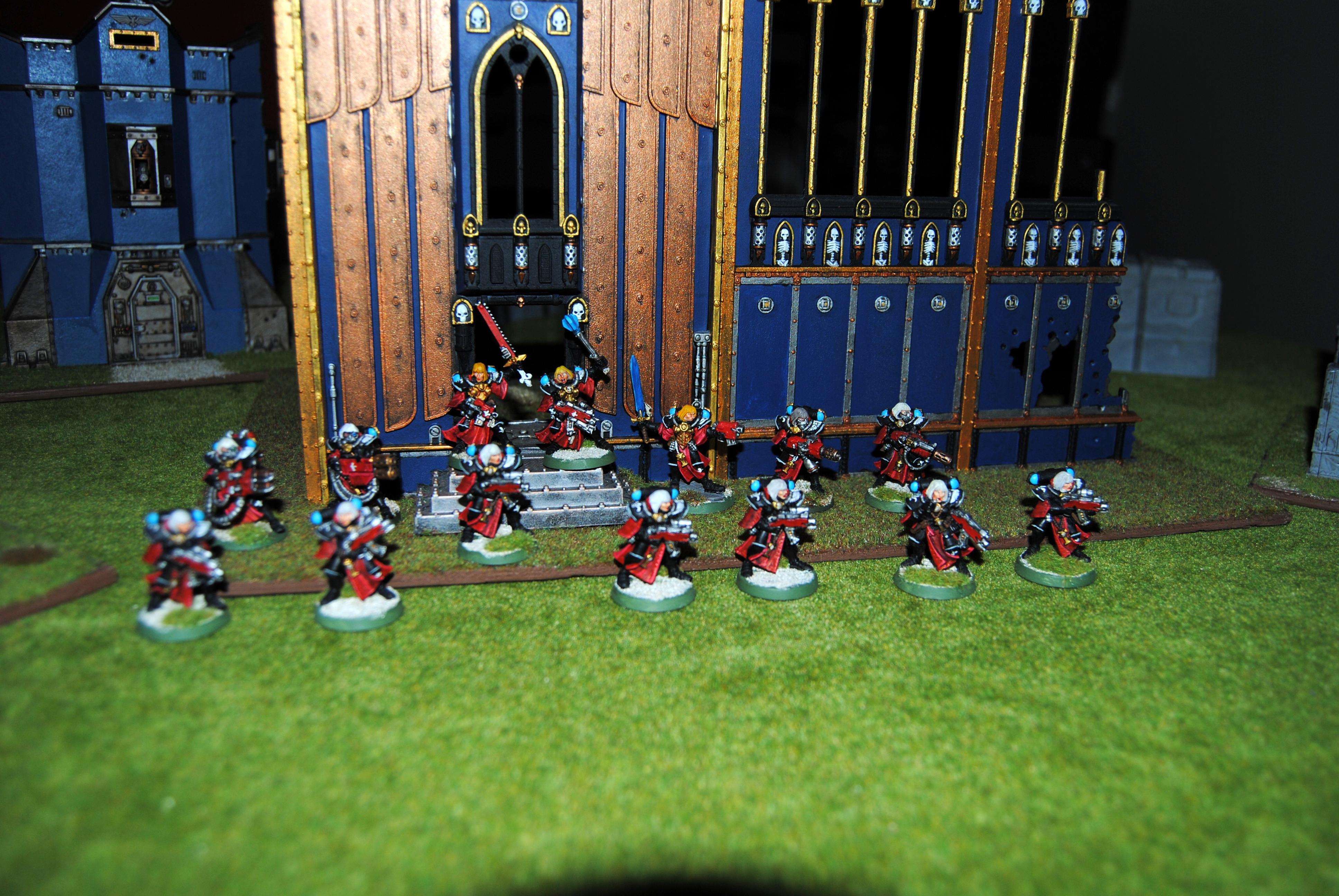 Adepta Sororitas, Battle Sisters Squad, Flamer, Heavy Flamer, Meltagun, Multi-melta, Sisters Of Battle, Veteran Sister Superior