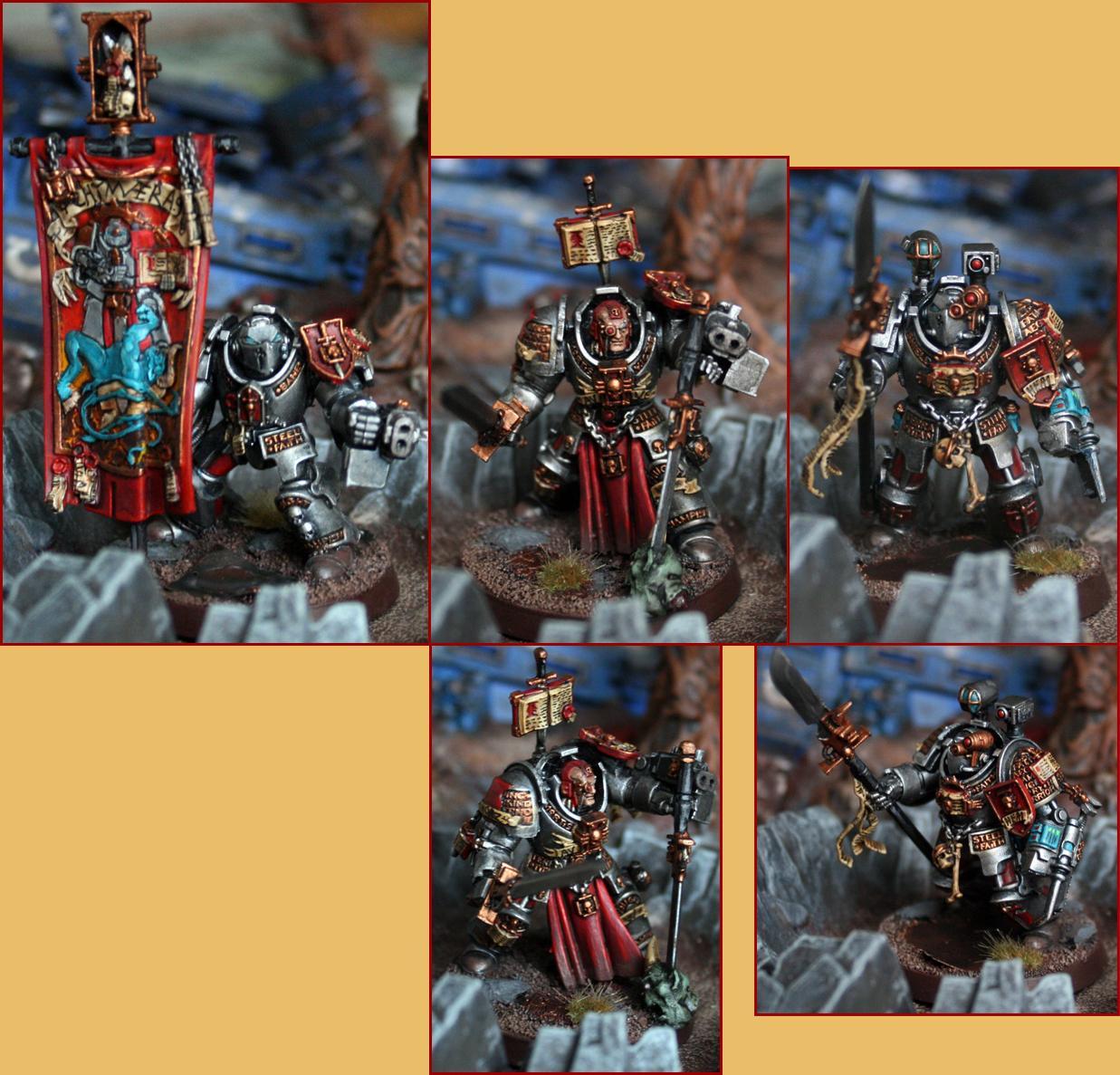 Apothicary, Arkaal, Banner, Paladin, Terminator Armor