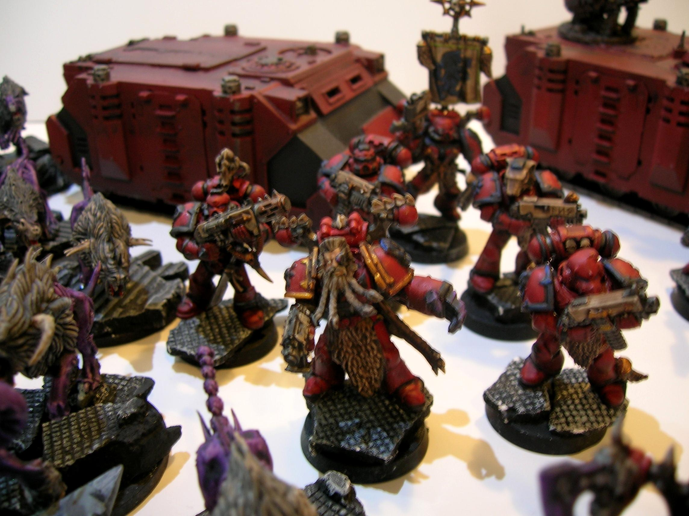 Chaos. Red Corsairs, Huron, Rune Priest, Space Wolves