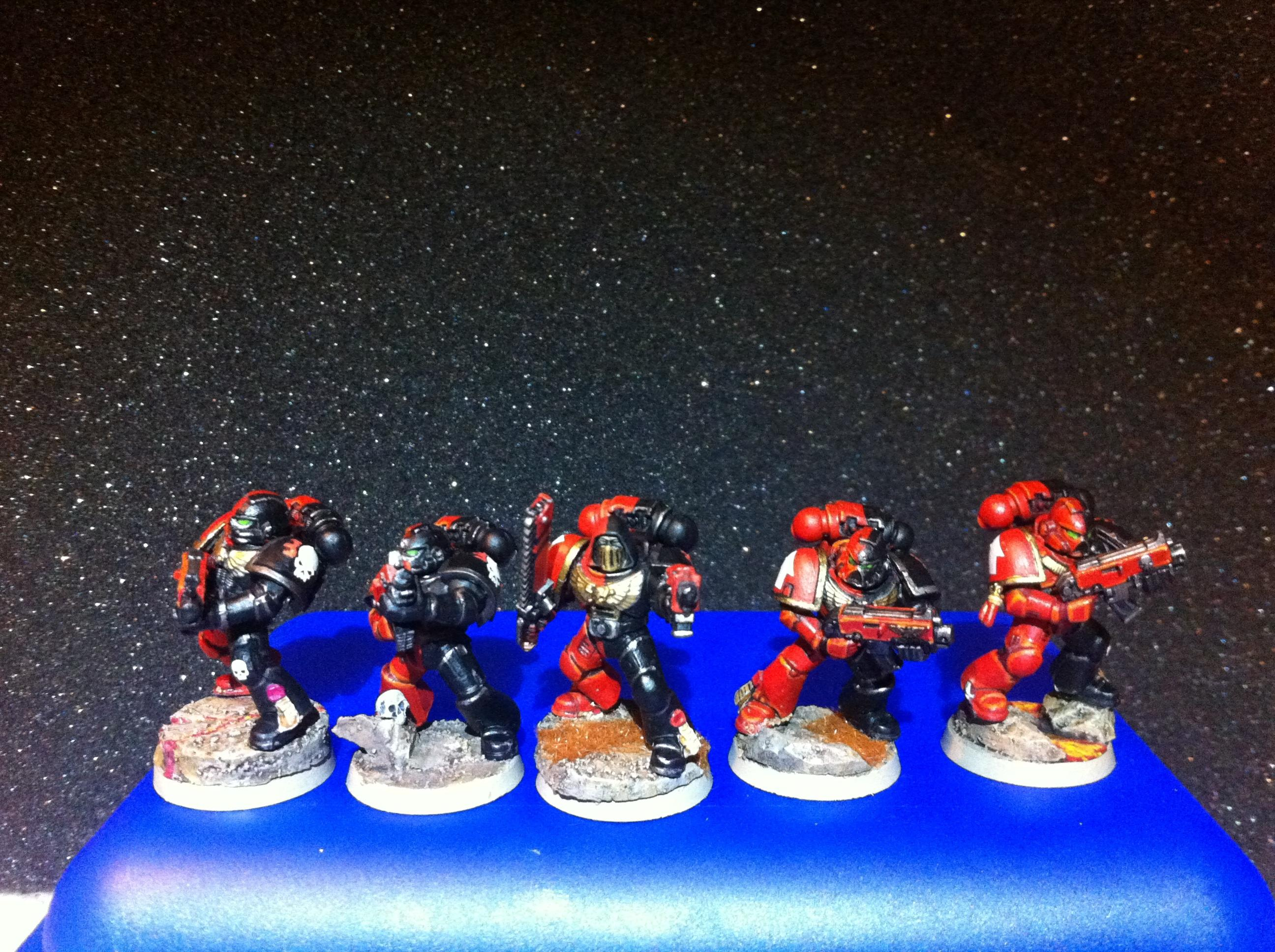 Blood Angels, Combat Squad, Dual Colour, Hood, Sanguine, Space Marines, Warhammer 40,000