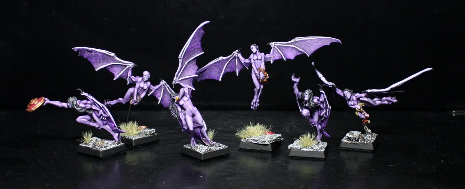Dark, Druchii, Elves, Gamezone, Harpies, Harpy, Purple, Warhammer Fantasy