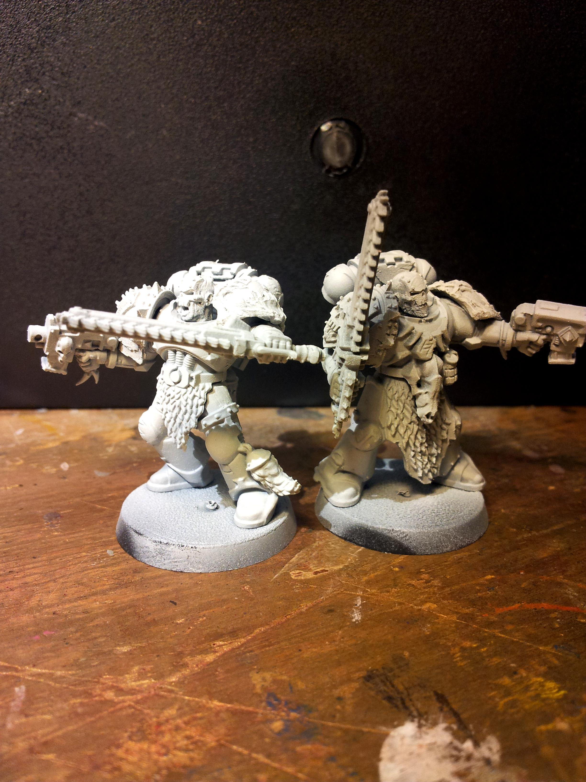 Chaos, Chaos Space Marines, Conversion, Puppet Wars, Space Wolves, Warband, Warhound, World Eaters