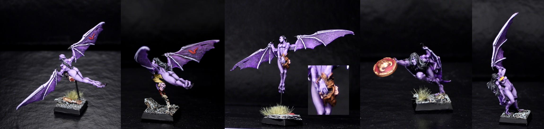 Dark, Details, Druchii, Elves, Gamezone, Harpies, Purple, Warhammer Fantasy