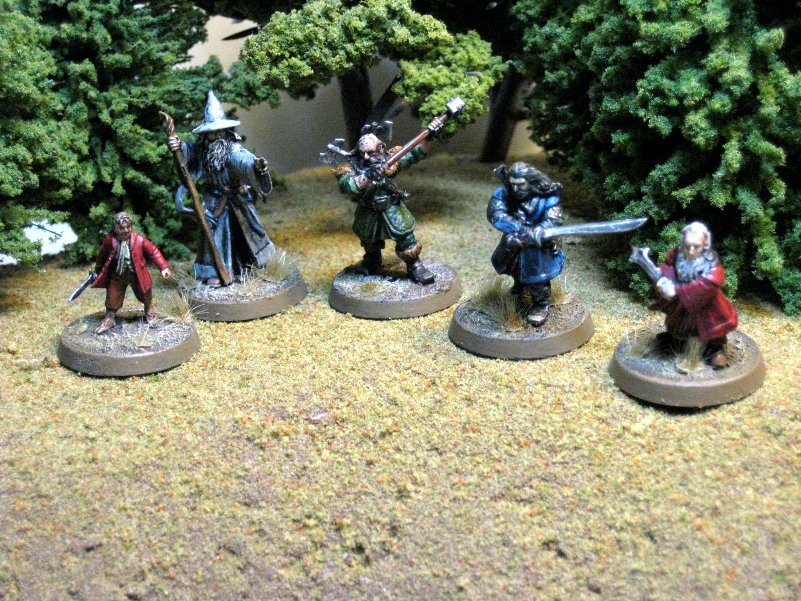 Balin, Bilbo, Dwalin, Gandalf The Grey, Hobbit, Lord Of The Rings, Thrin