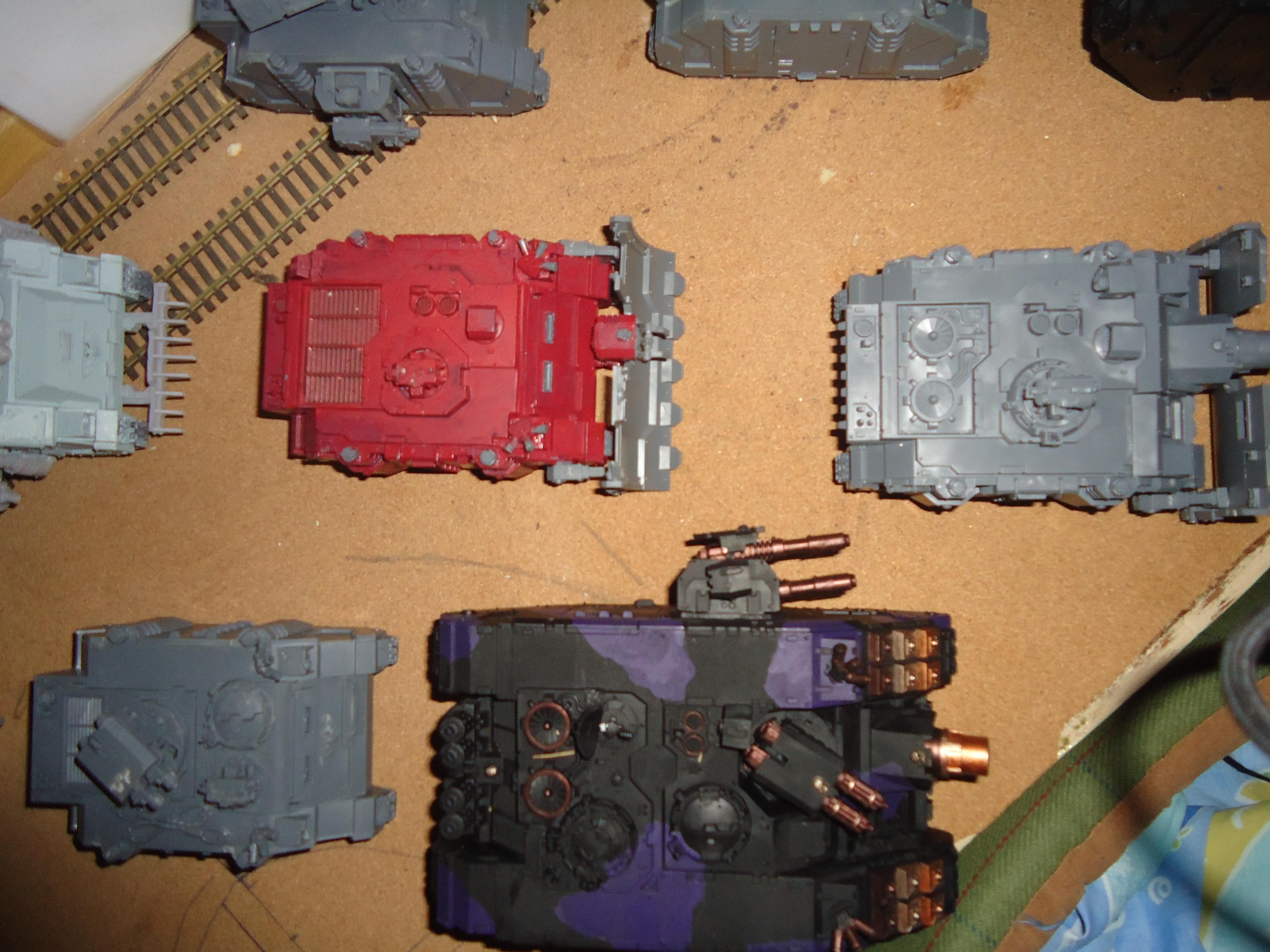 Ares, Land Raider, Razorback, Rhino, Techmarine