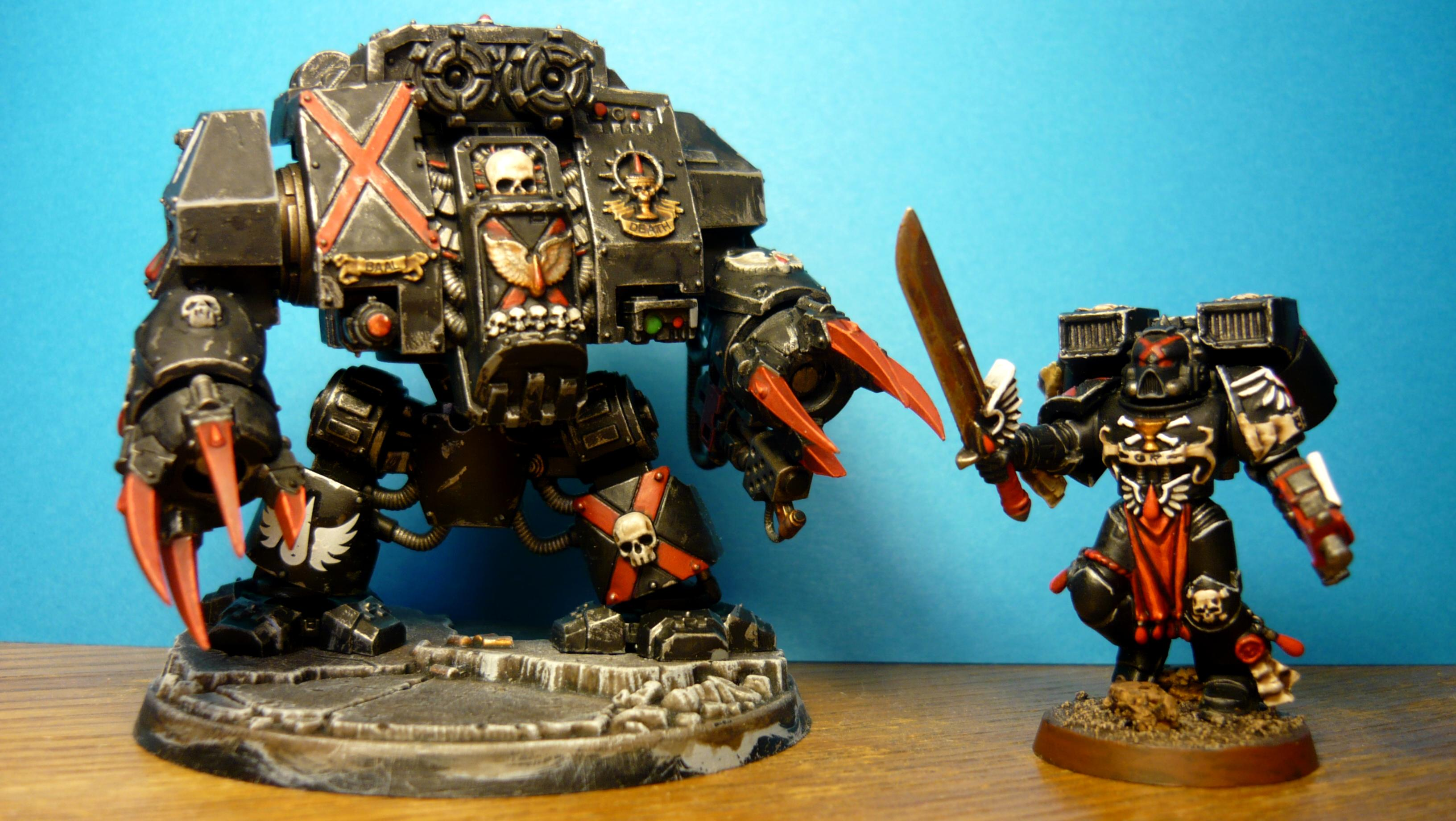 Death Company Dreadnought and DC Troop with sword
