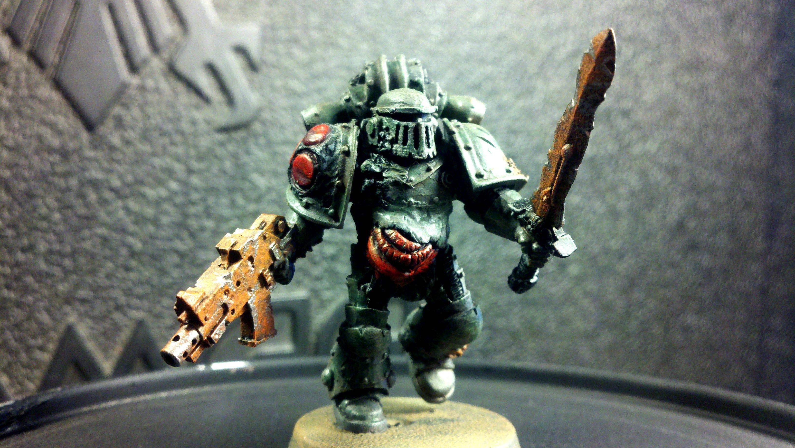 Aspiring Champion, Champion, Chaos, Chaos Space Marines, Conversion, Nurgle, Plague Marines, Warhammer 40,000