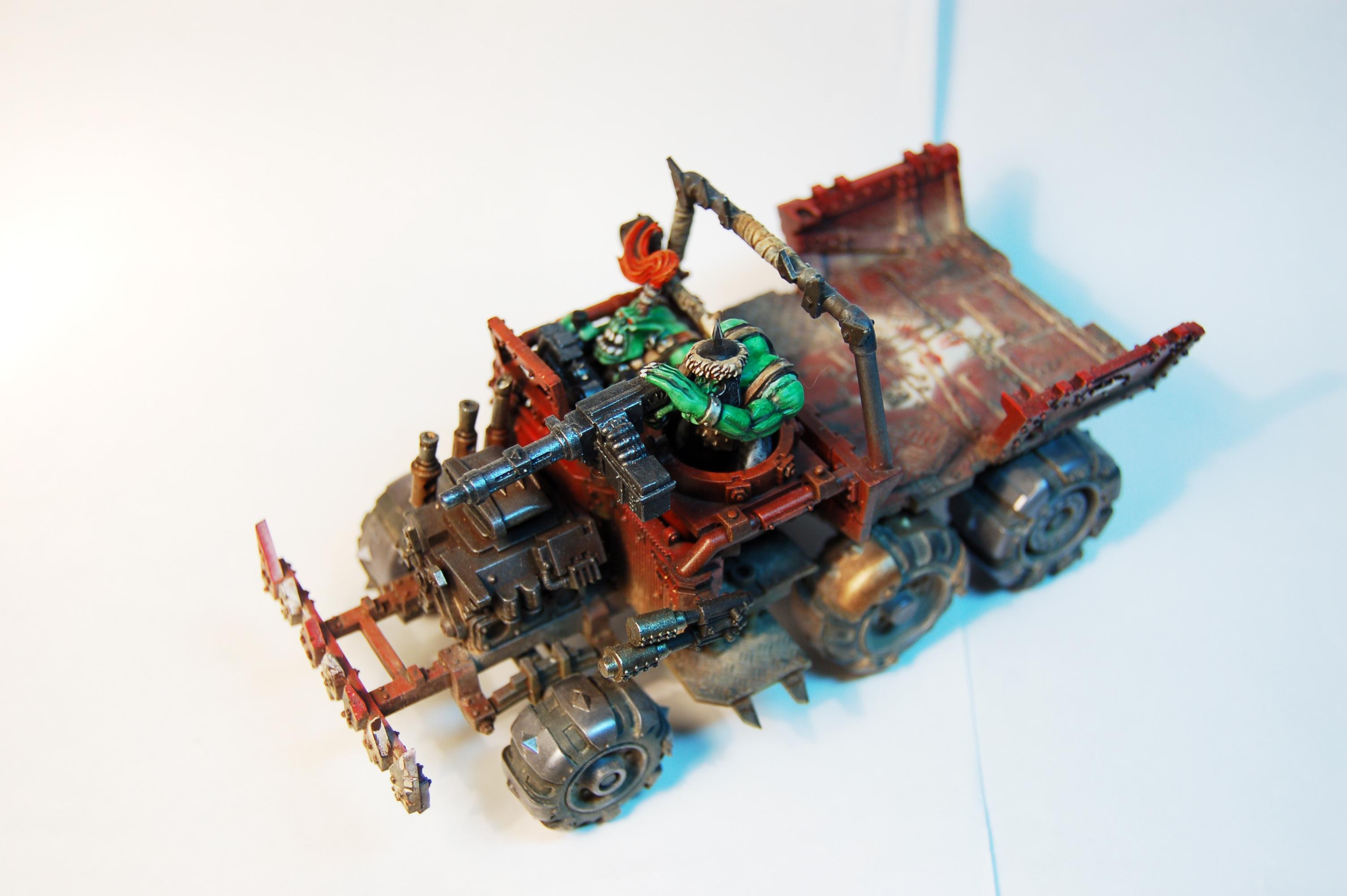 Orks, Red Paint Job, Trukk, Warhammer 40,000