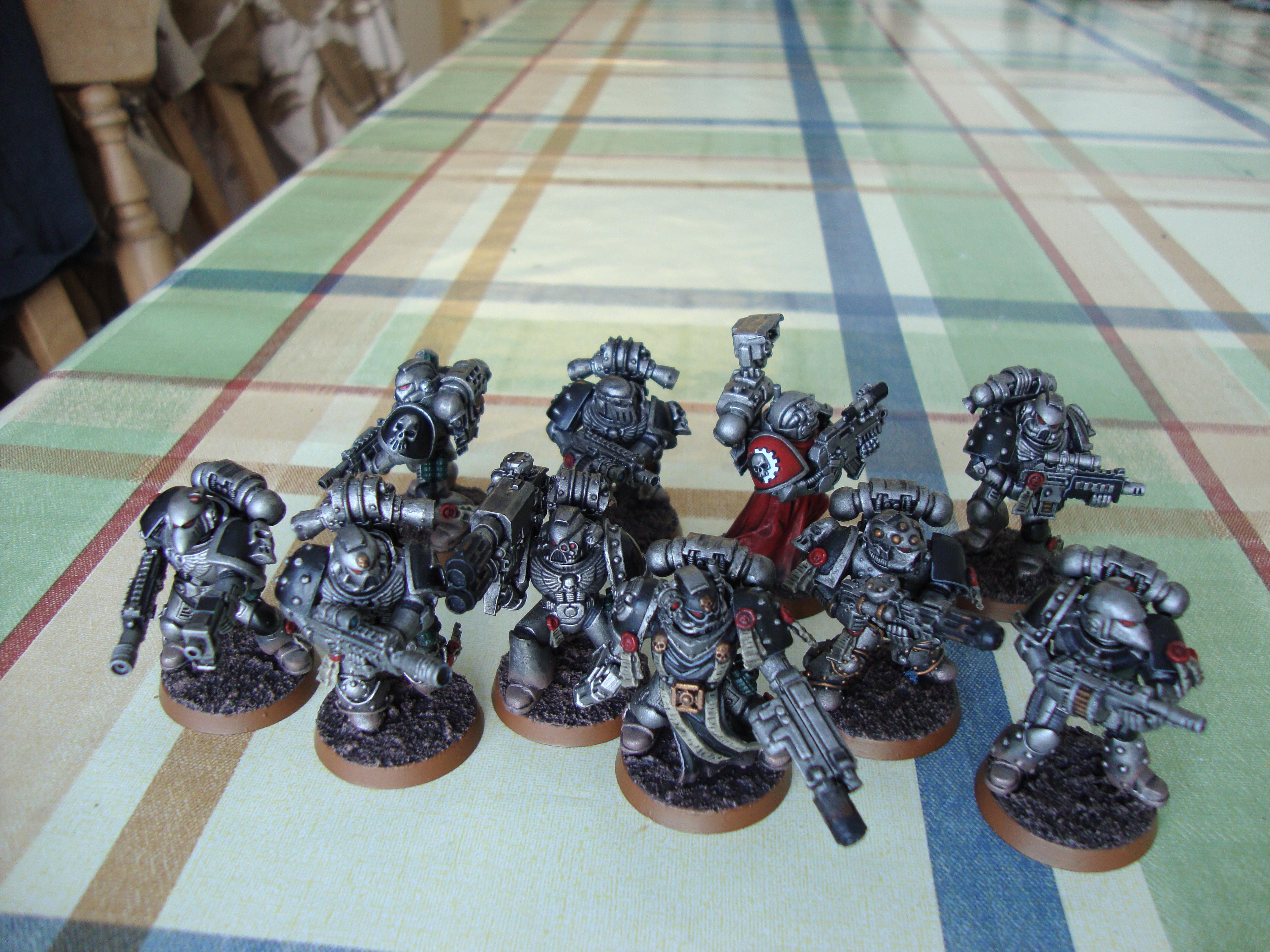 Metal, Space Marines, Squad, Tactical, Tech Preist