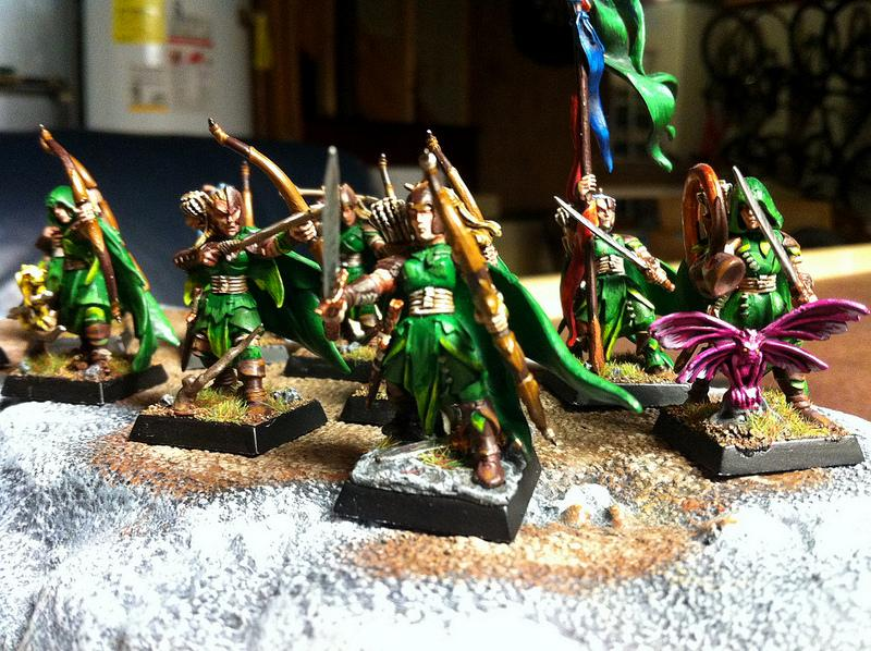 Archers, Elves, Forest, Trees, Warhammer Fantasy, Wood