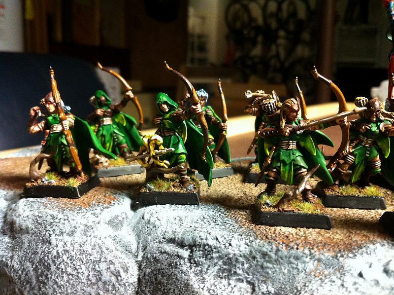 Archers, Elves, Forest, Trees, Warhammer Fantasy, Wood