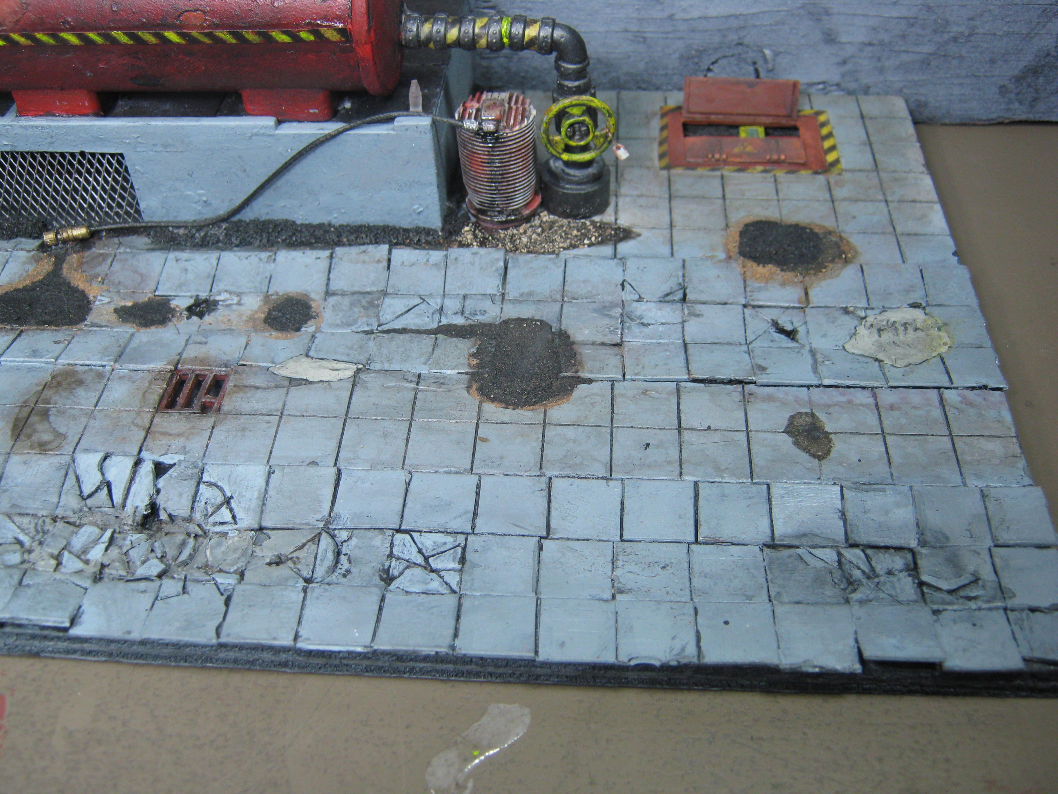Necromunda, Road, Rust Effect, Scratch Build, Terrain, Warhammer 40,000
