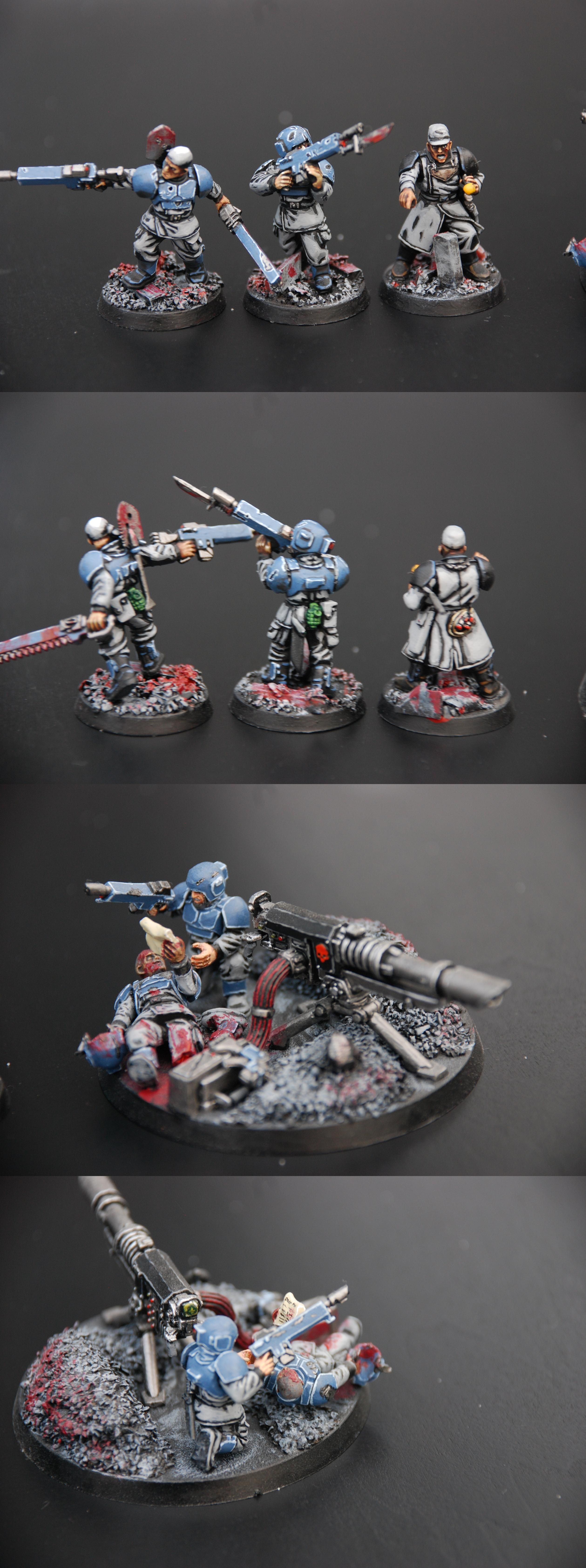 Command Squad, Guardsmen, Imperial Guard, Infantry, Lascannon, Troops, Warhammer 40,000, Wounded