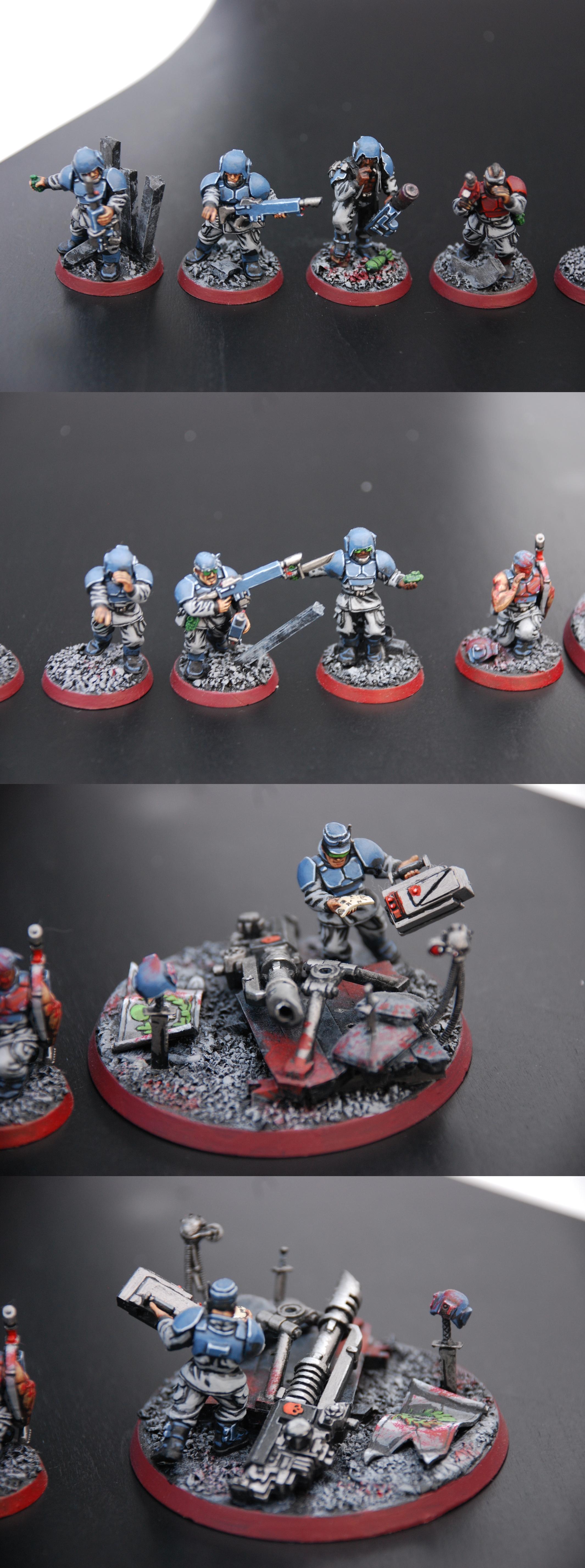 Grave, Guardsmen, Imperial Guard, Infantry, Lascannon, Meltagun, Troops, Warhammer 40,000