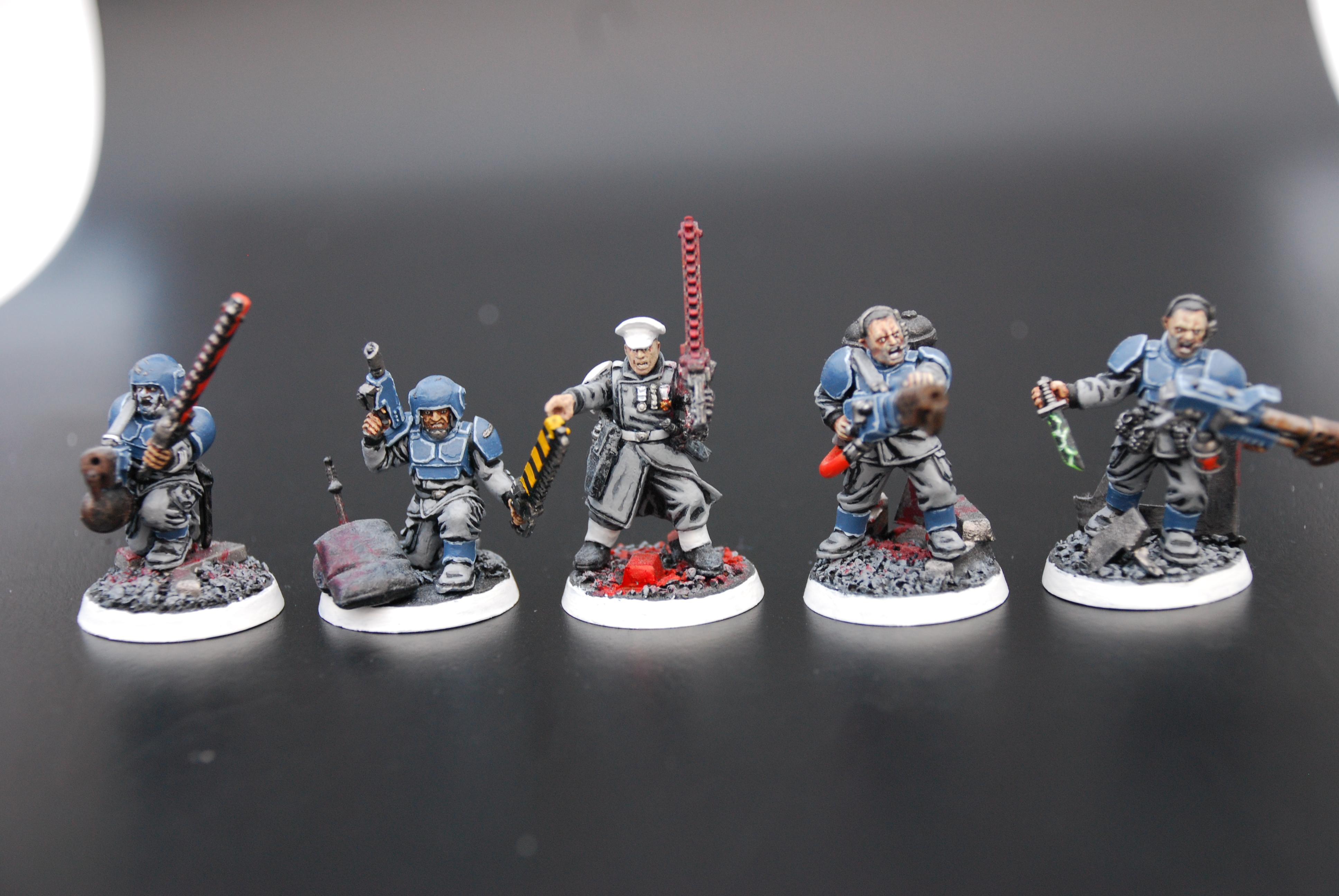 Command Squad, Flamers, Guardsmen, Imperial Guard, Infantry, Platoon Command Squad, Troops, Warhammer 40,000