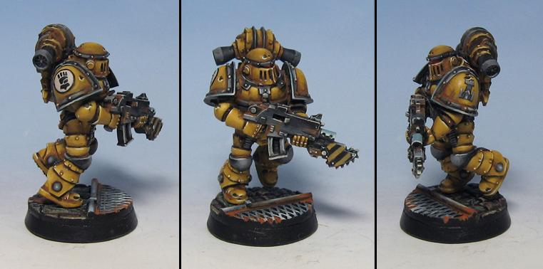 Chrome Effect, Imperial Fists, Pre Heresy Imperial Fist, Space Marines
