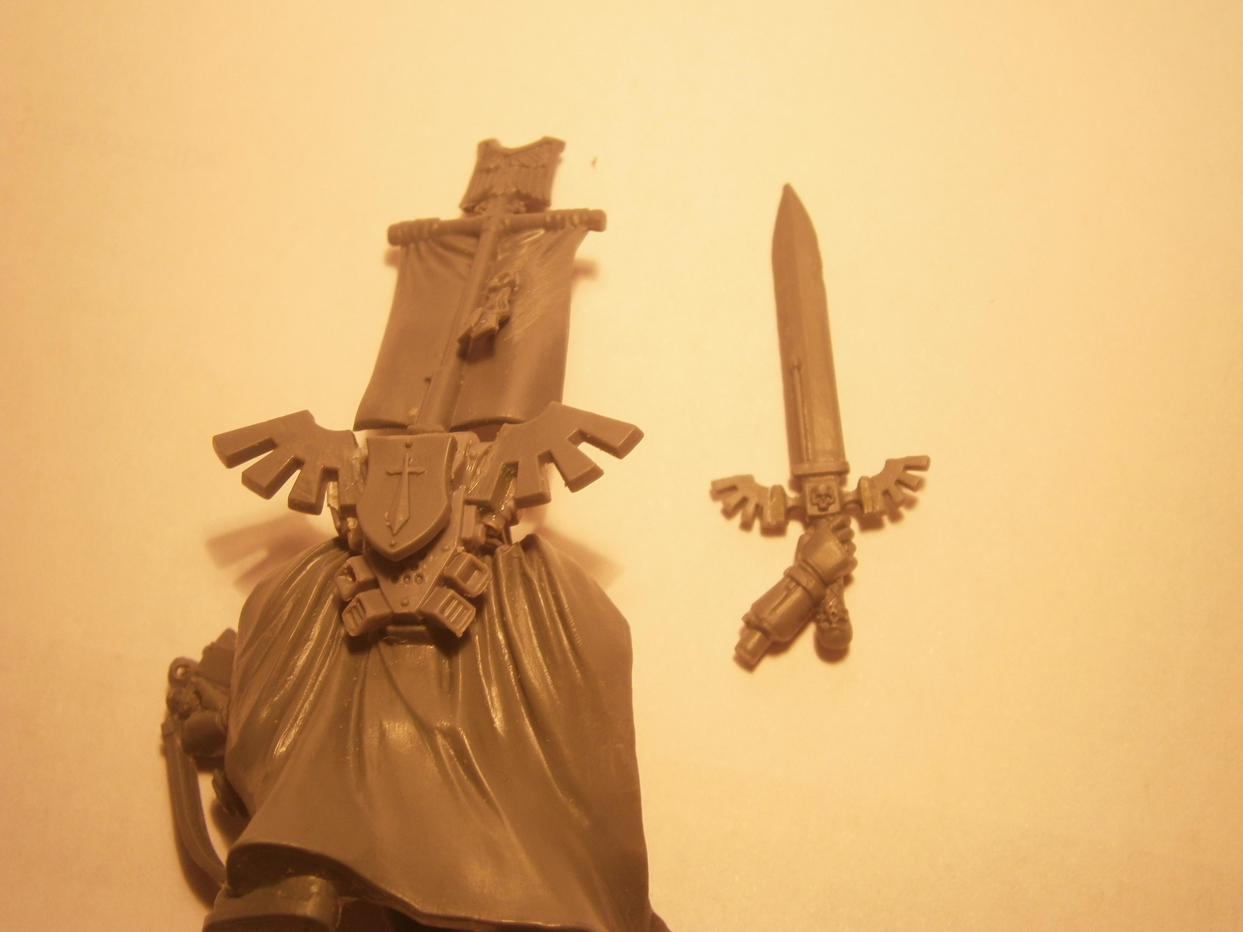 Captain, Dark Angels, Space Marines, Warhammer 40,000, Work In Progress