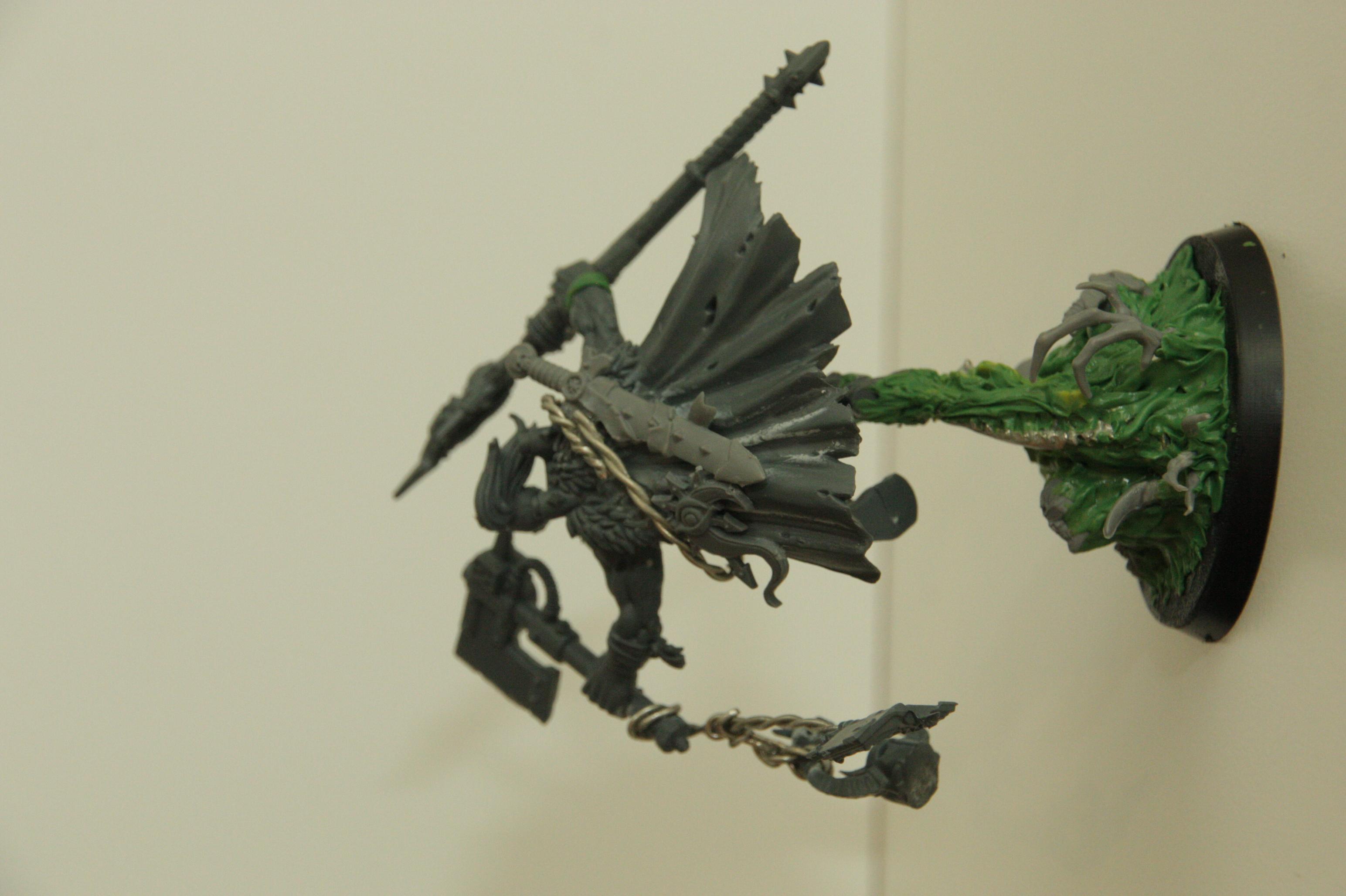 Ork - Weirdboy WIP behind