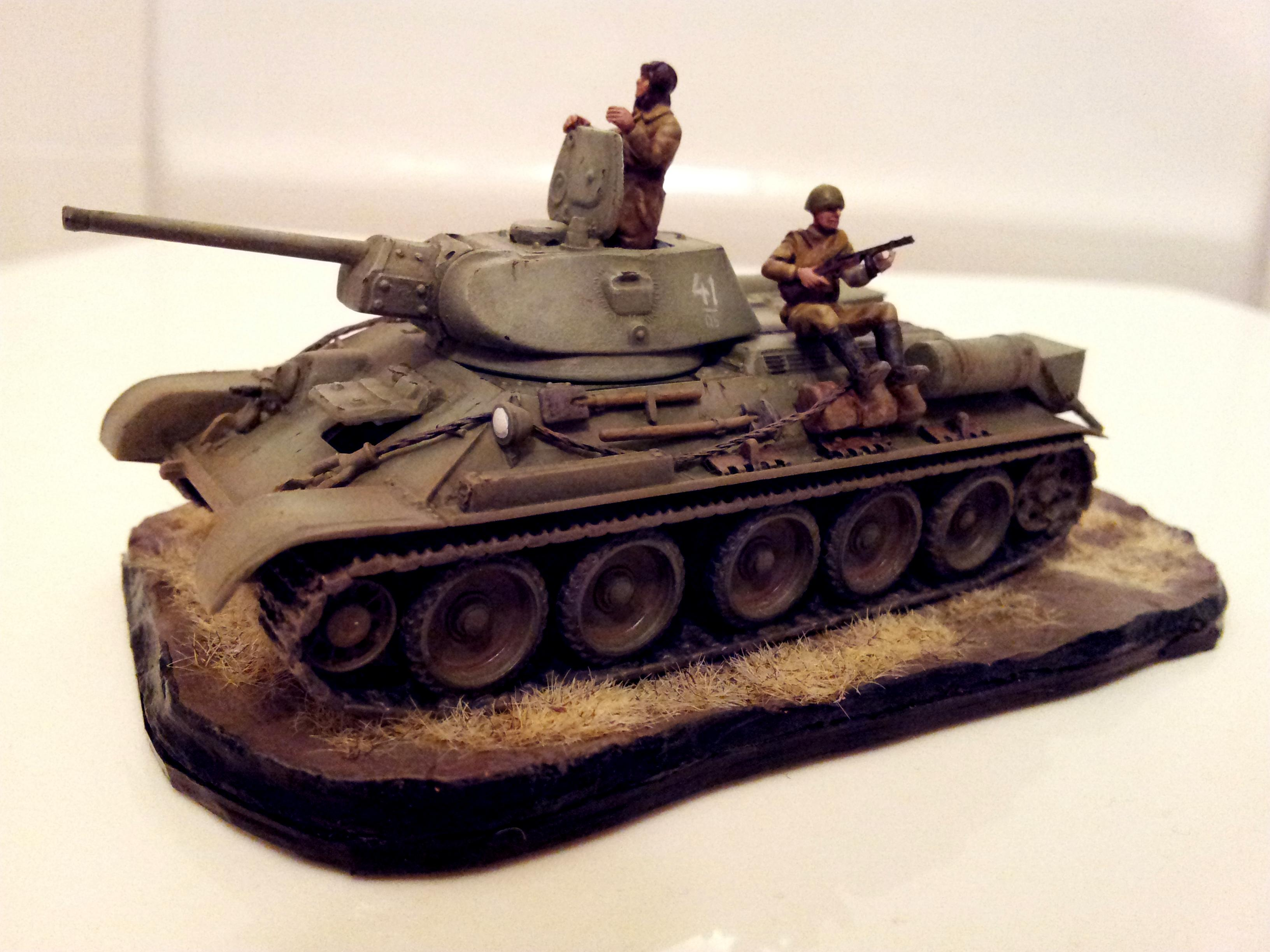 1/72, Braille, Russians, T-34, Tank, World War 2